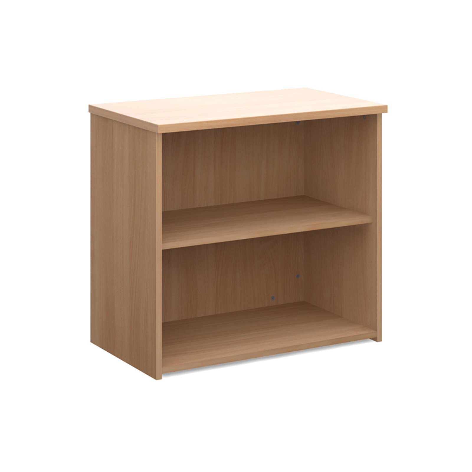 Up To 1200mm High Universal bookcase 740mm high with 1 shelf - beech