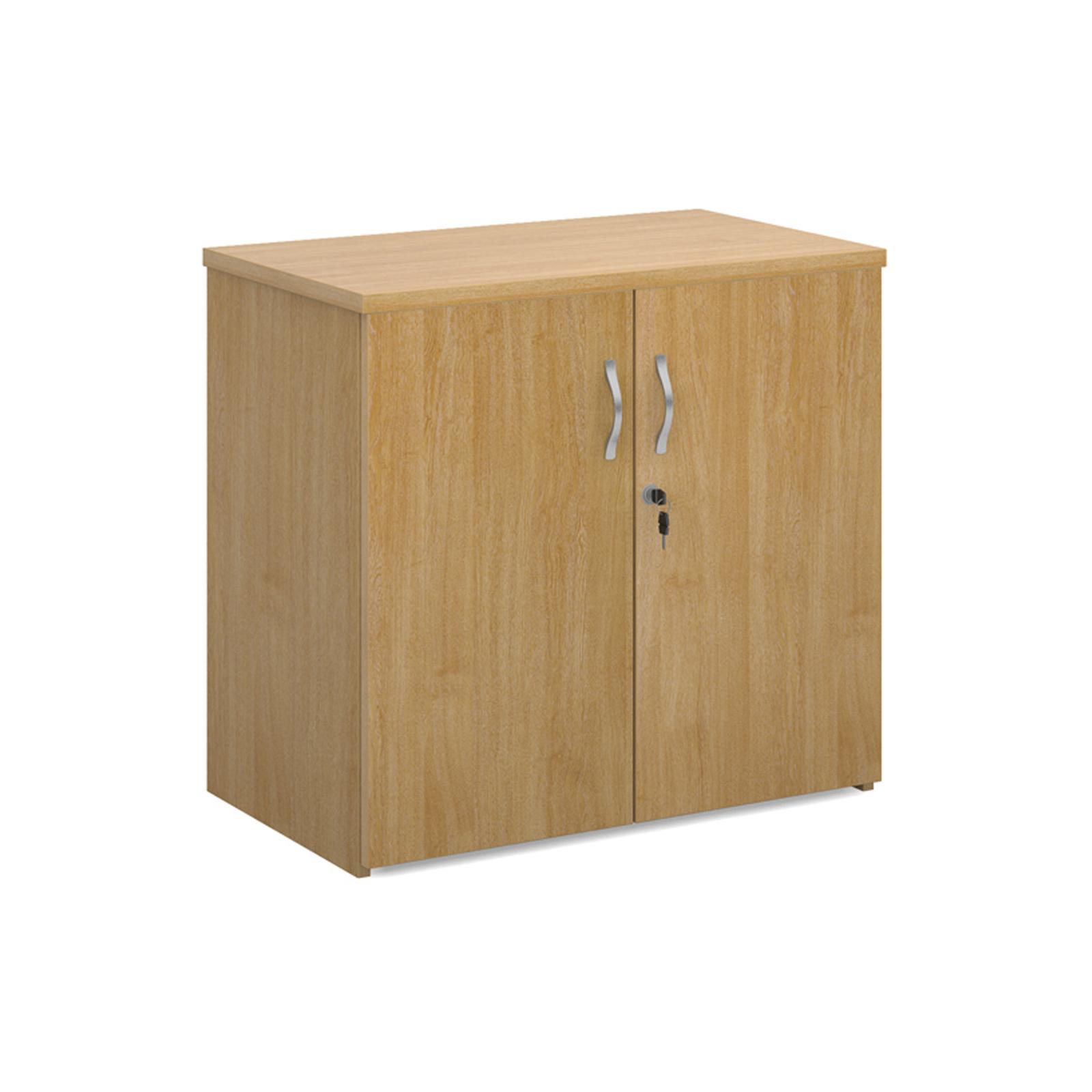 Up to 1200mm High Universal double door cupboard 740mm high with 1 shelf - oak