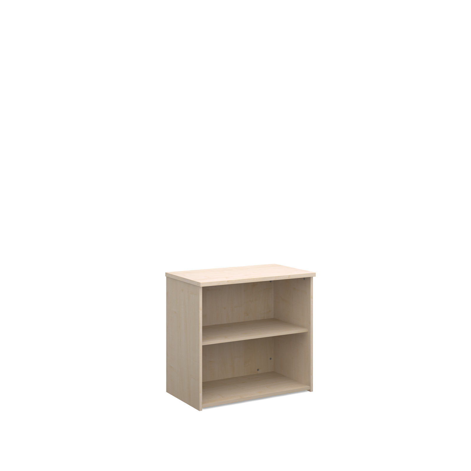 Up To 1200mm High Universal bookcase 740mm high with 1 shelf - maple