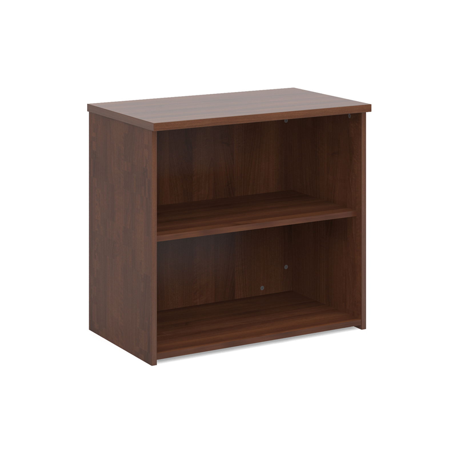Up To 1200mm High Universal bookcase 740mm high with 1 shelf - walnut