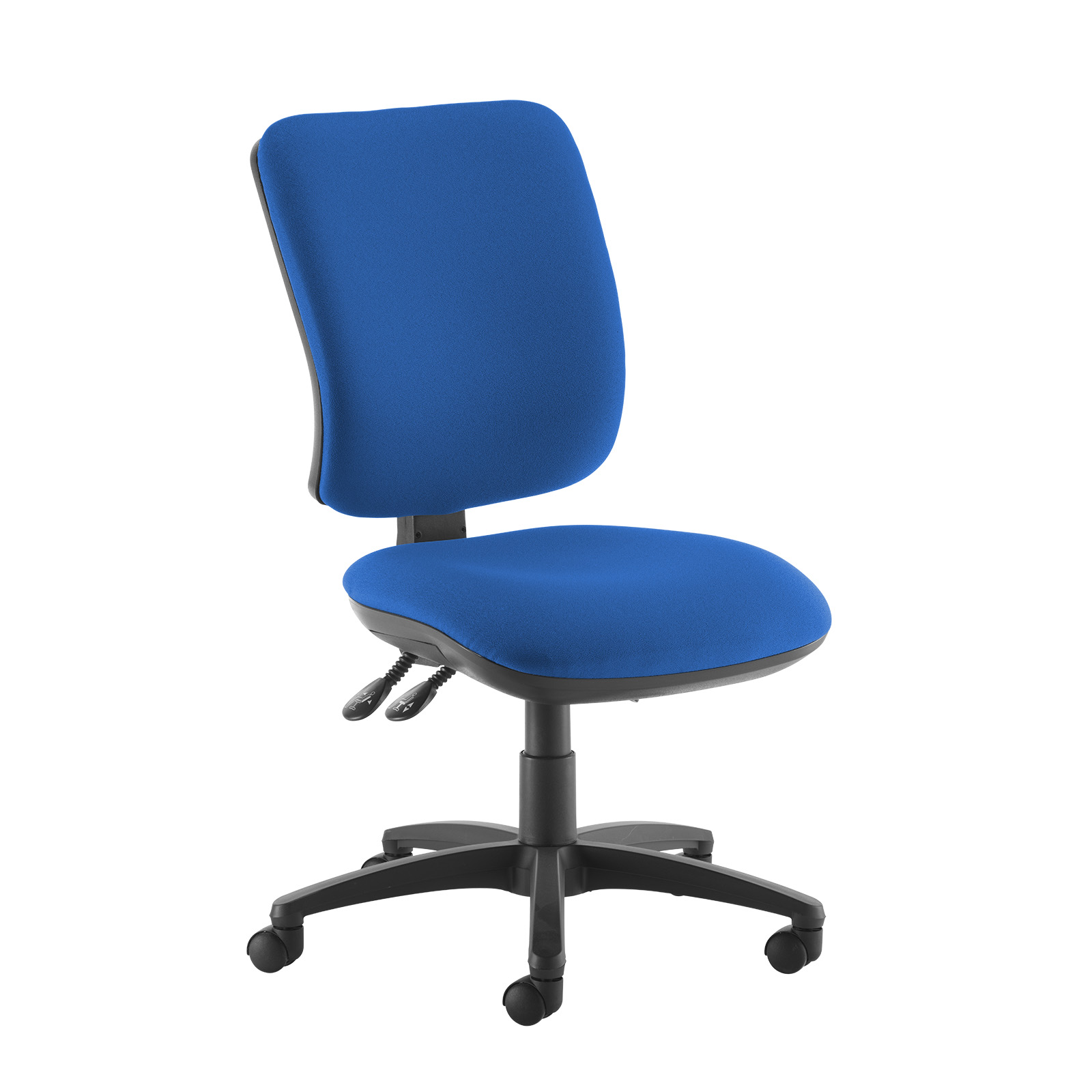 Desk Chairs Senza high back operator chair with no arms - blue
