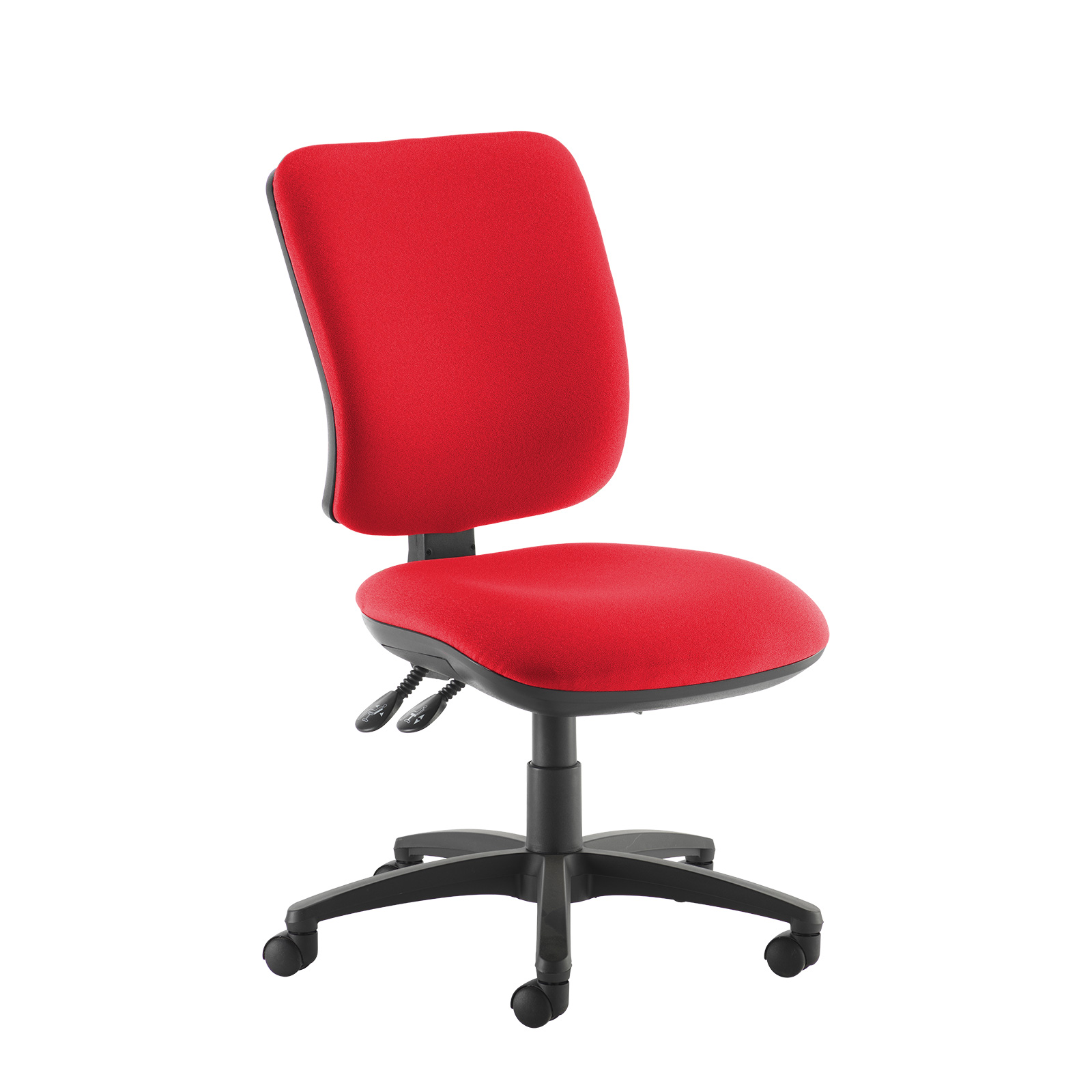 Desk Chairs Senza high back operator chair with no arms - red