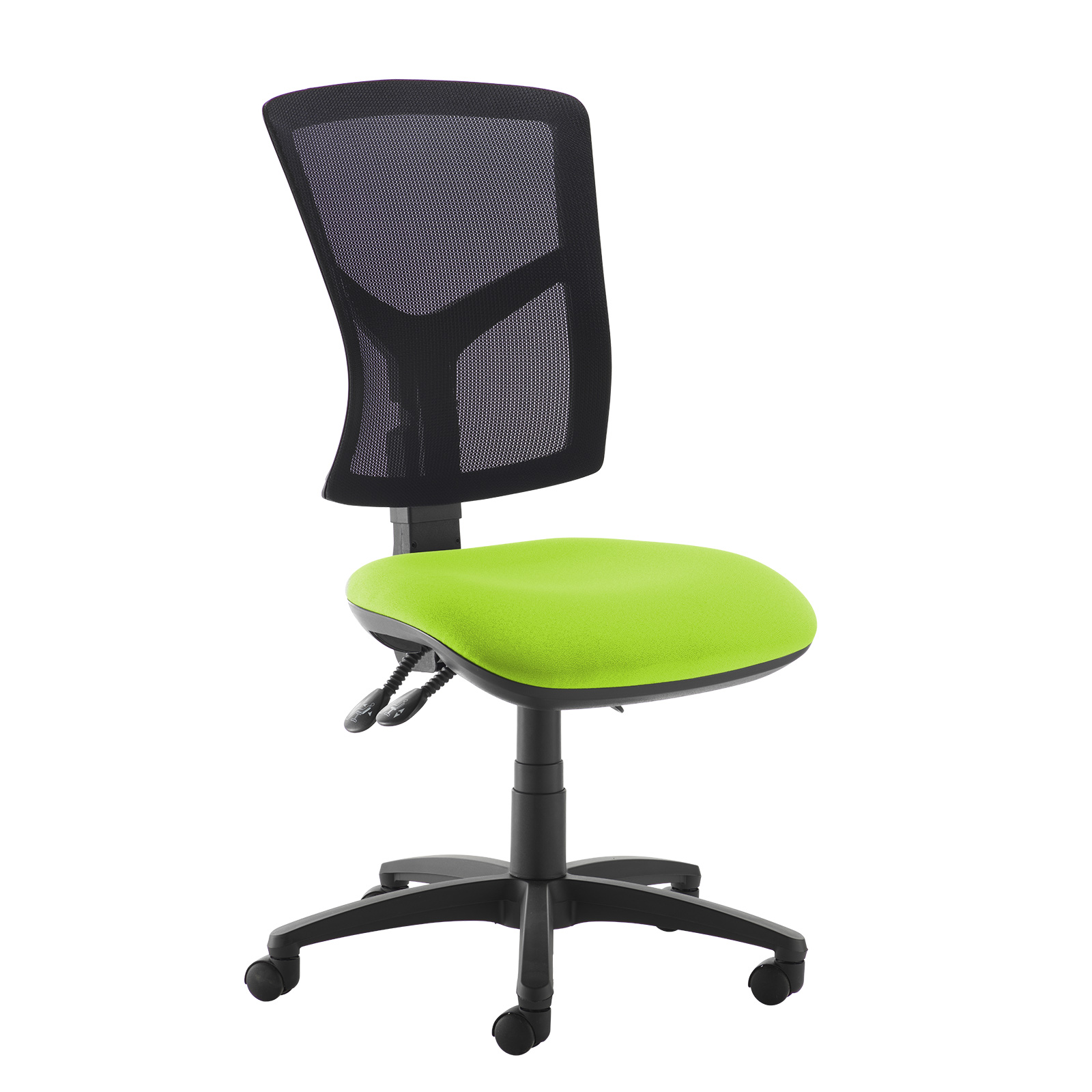 Senza high mesh back operator chair with no arms - green