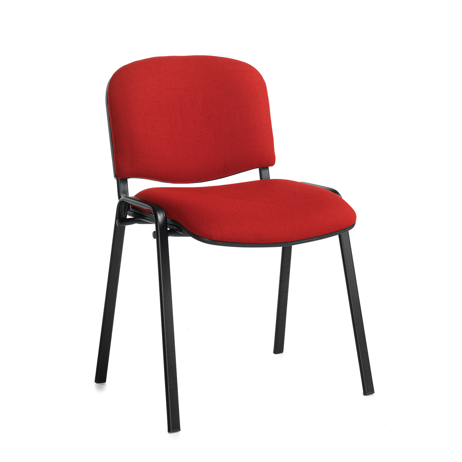 Taurus meeting room stackable chair with black frame and no arms - burgundy