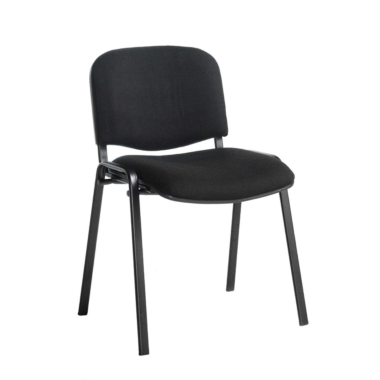 Boardroom / Meeting Taurus meeting room stackable chair with black frame and no arms - black