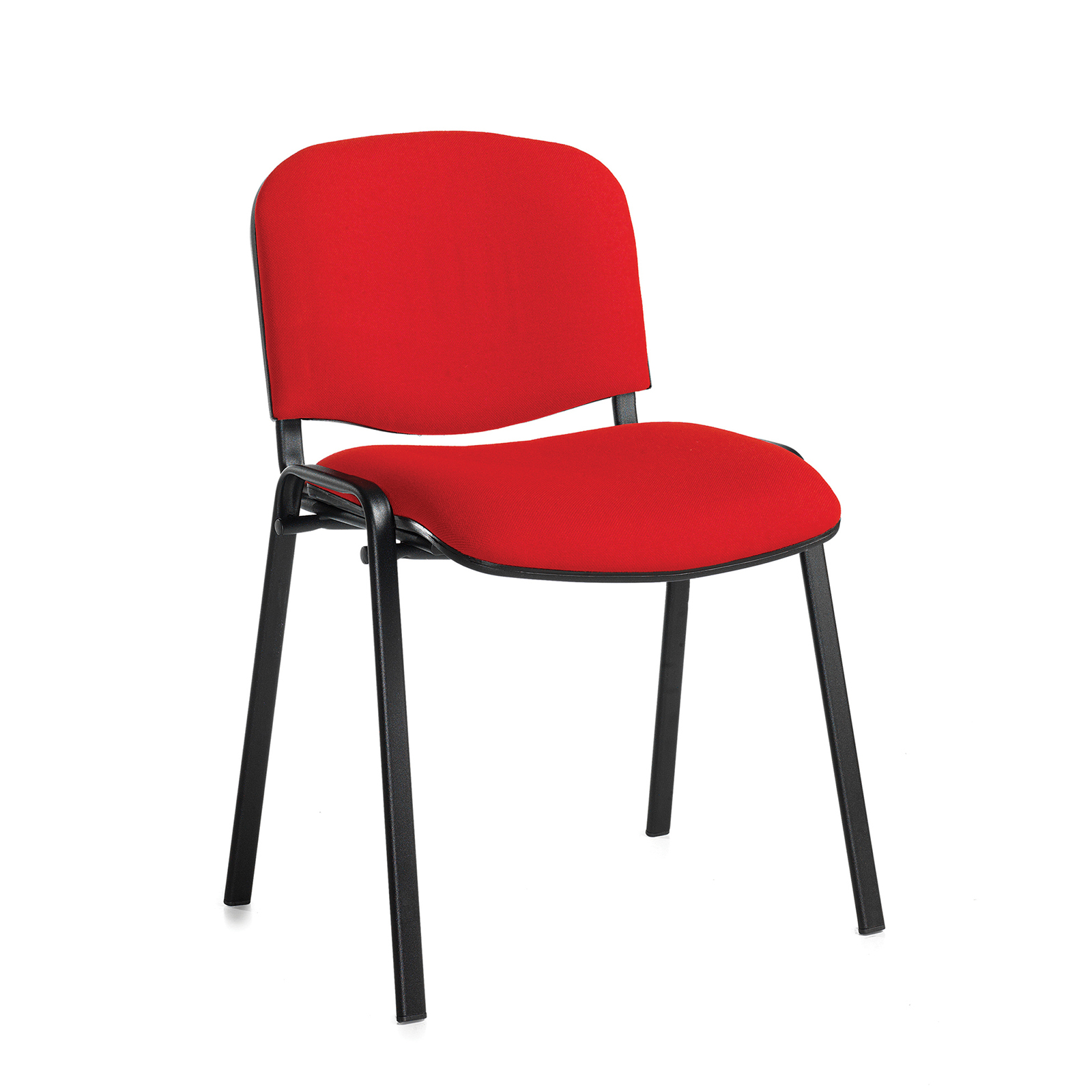 Boardroom / Meeting Taurus meeting room stackable chair with black frame and no arms - red