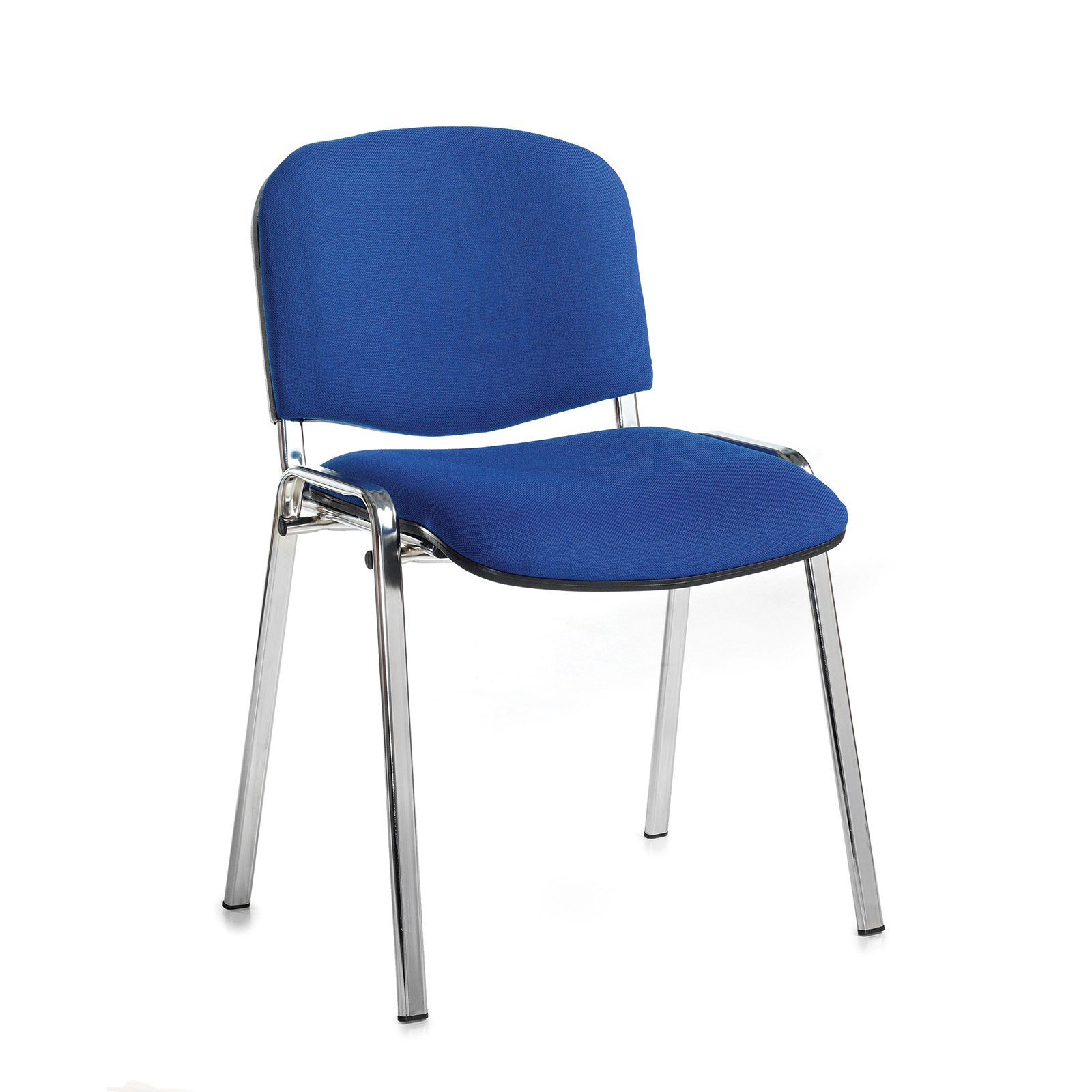Boardroom / Meeting Taurus meeting room stackable chair with chrome frame and no arms - blue