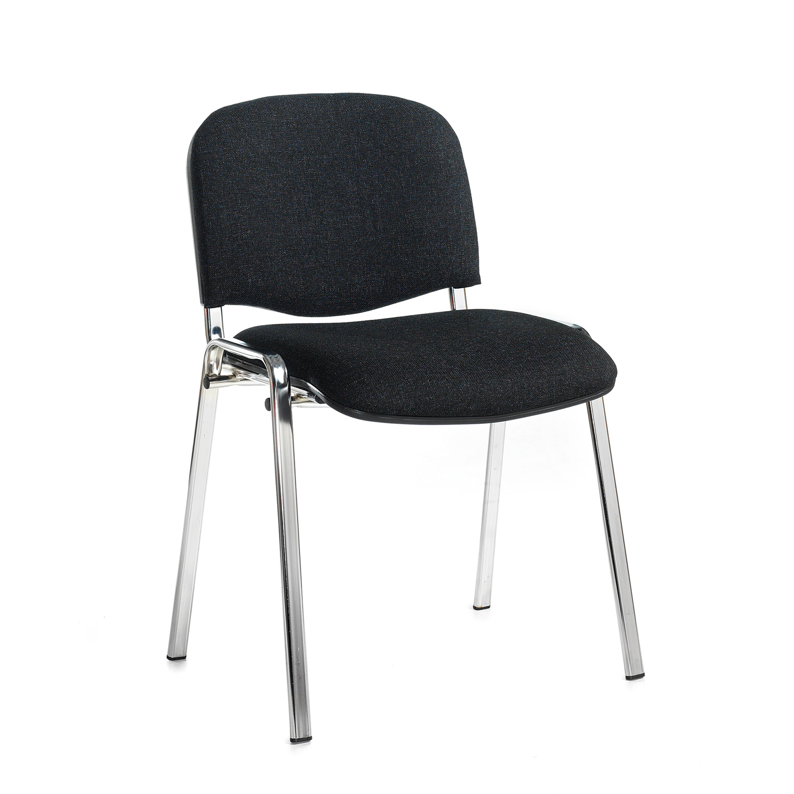 Boardroom / Meeting Taurus meeting room stackable chair with chrome frame and no arms - charcoal