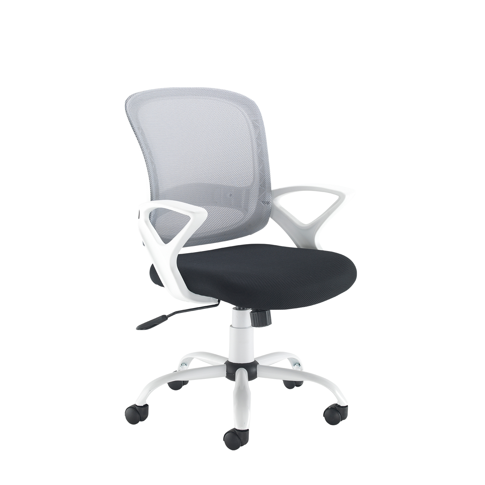 Tyler mesh back operator chair with white frame