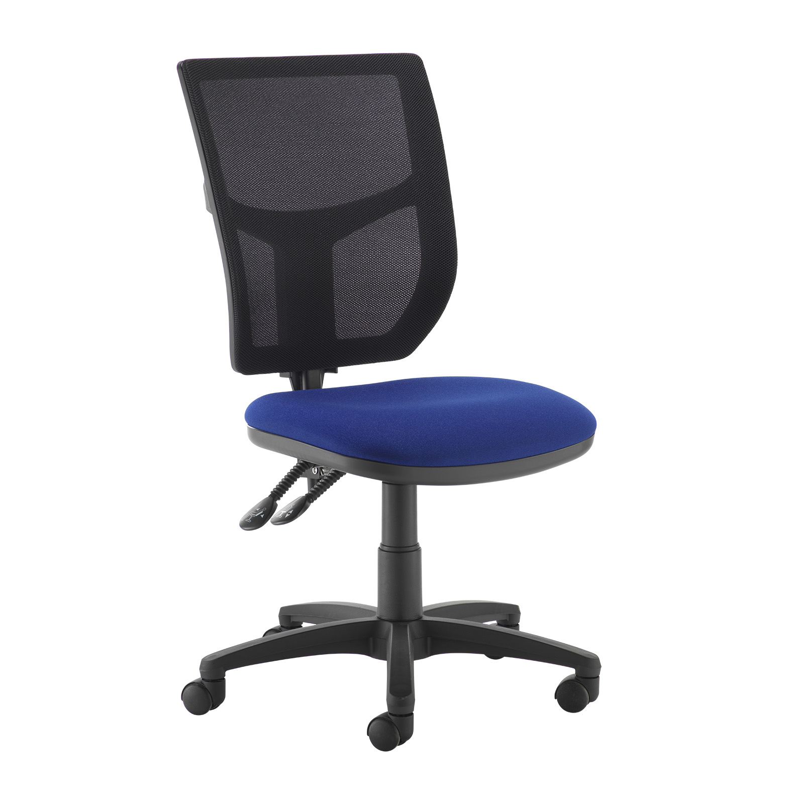 Desk Chairs Altino 2 lever high mesh back operators chair with no arms - blue