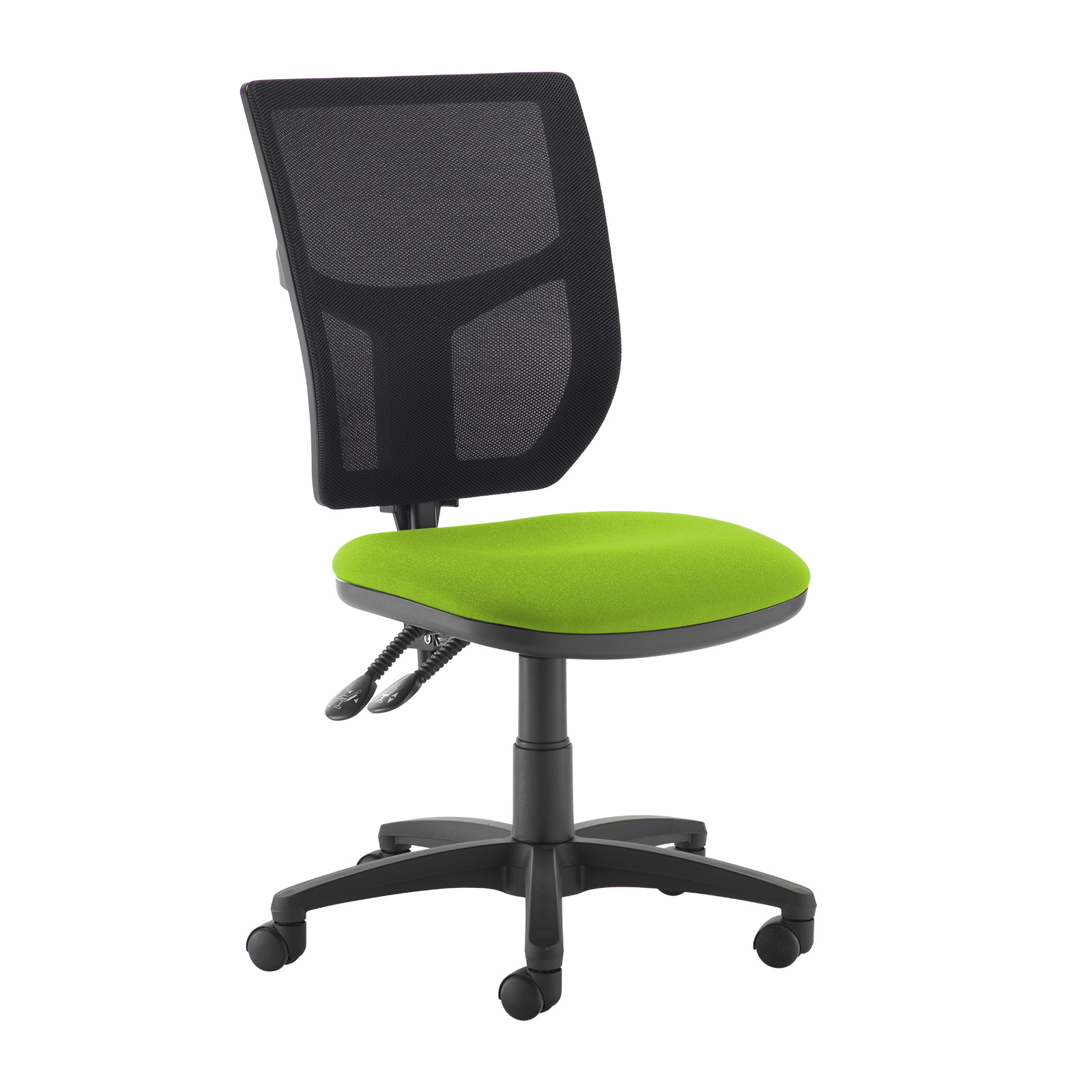 Desk Chairs Altino 2 lever high mesh back operators chair with no arms - green