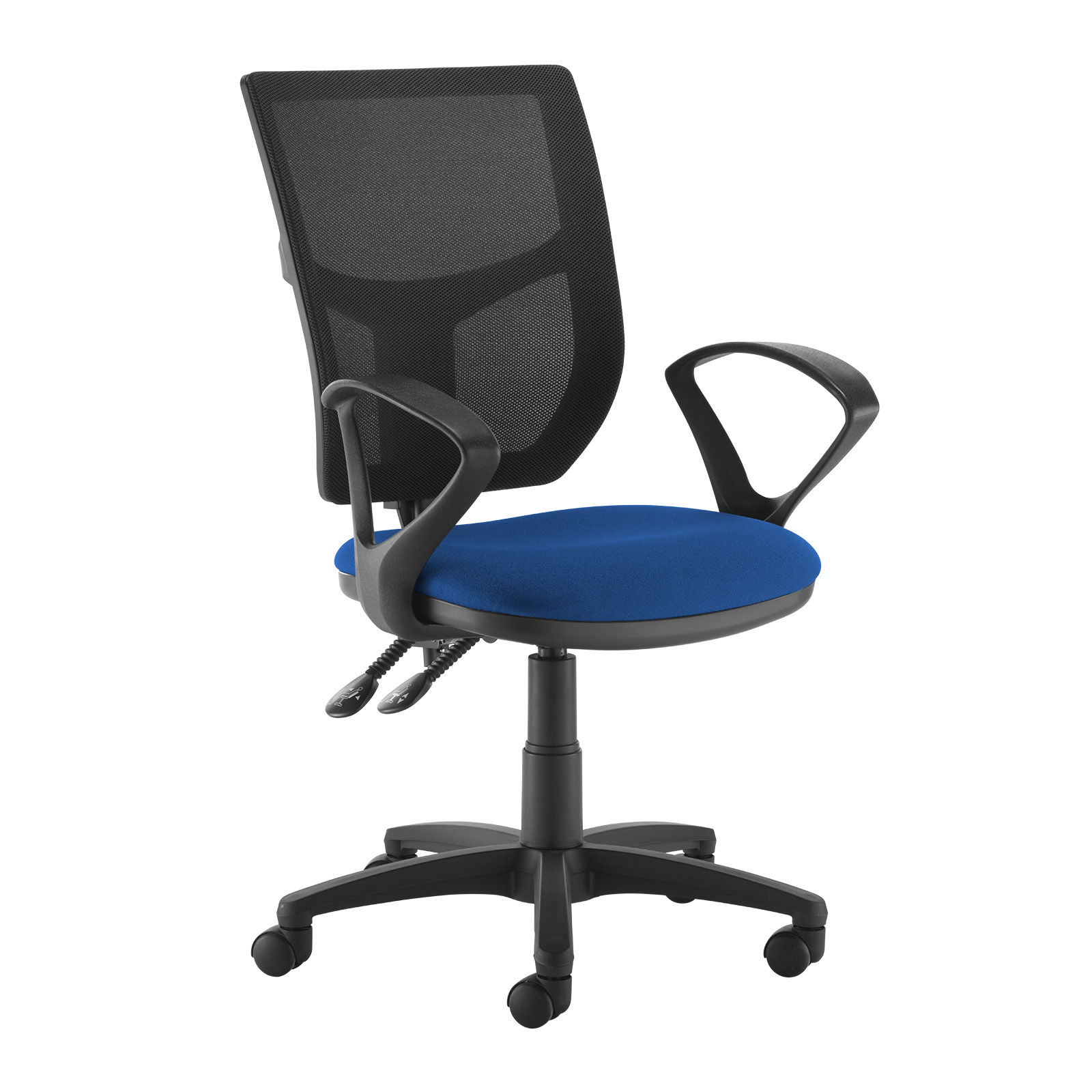 Desk Chairs Altino 2 lever high mesh back operators chair with fixed arms - blue