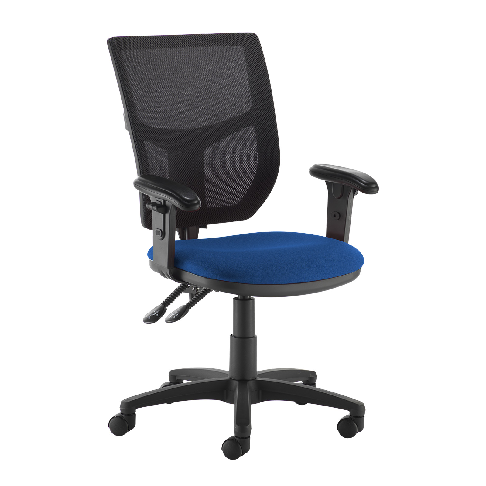Desk Chairs Altino 2 lever high mesh back operators chair with adjustable arms - blue