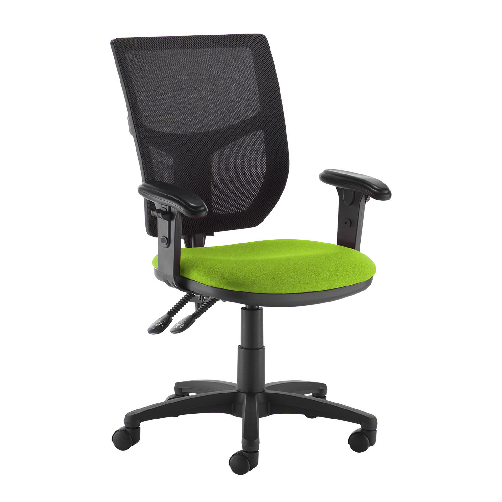 Desk Chairs Altino 2 lever high mesh back operators chair with adjustable arms - green