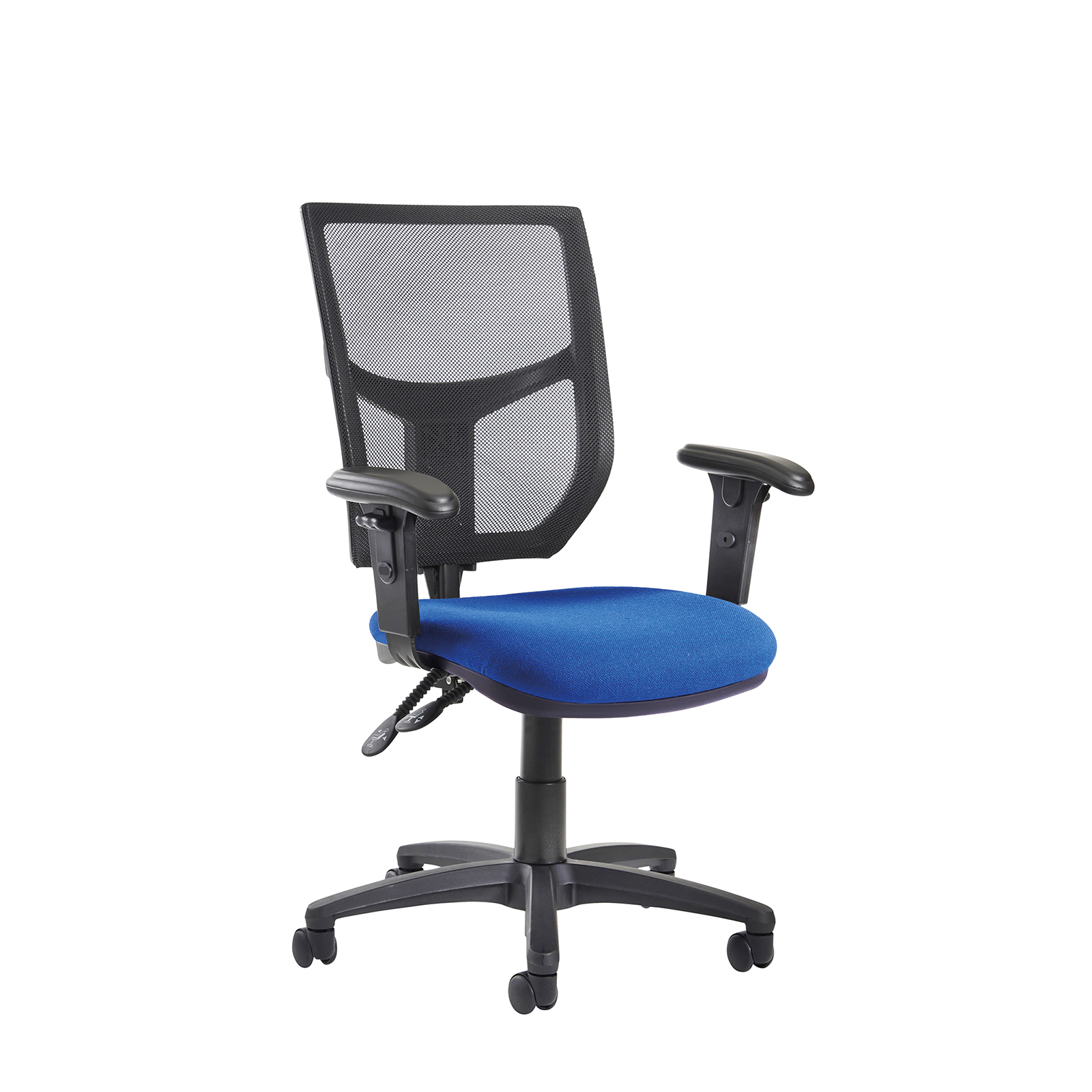 Chairs Altino 2 lever high mesh back operators chair with adjustable arms - blue