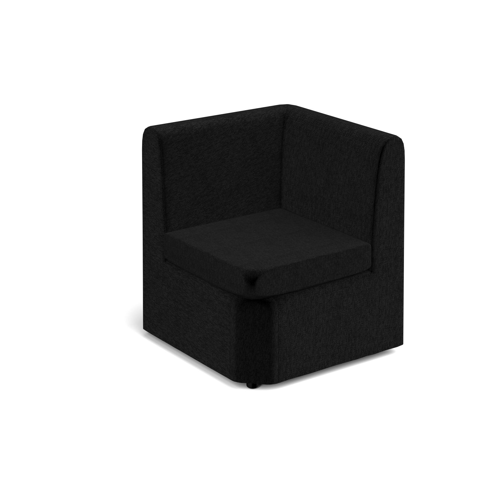 Reception Chairs Alto modular reception seating corner unit - charcoal