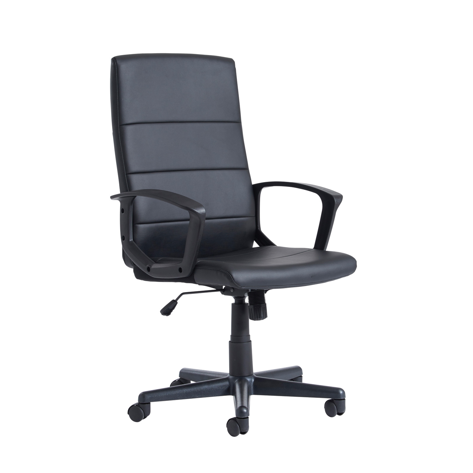 Executive Chairs Ascona high back managers chair - black faux leather