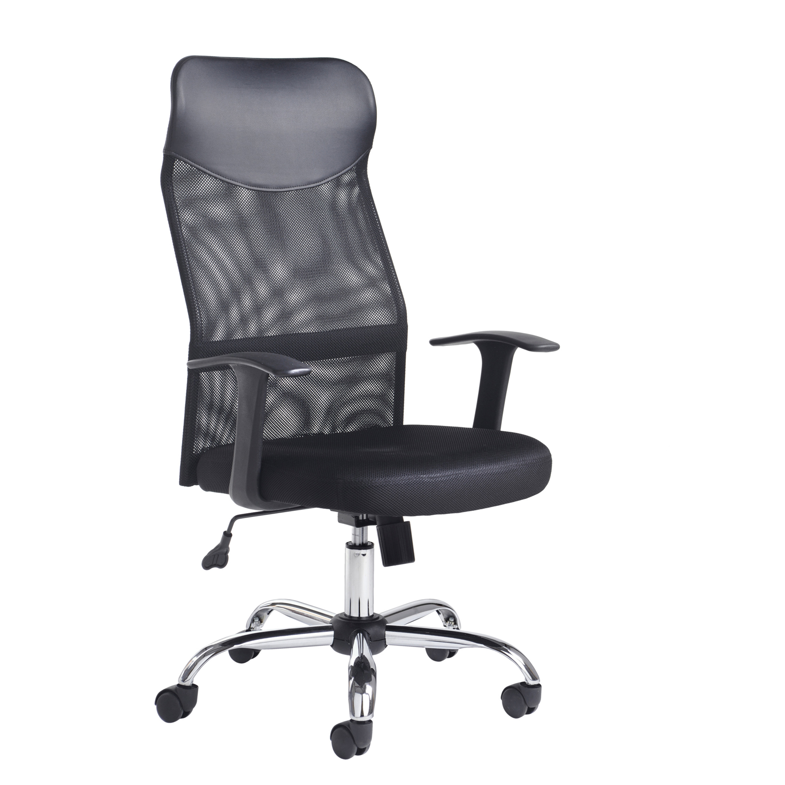 Desk Chairs Aurora high back mesh operators chair - black