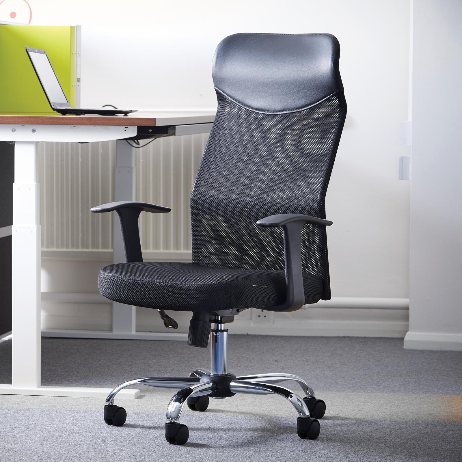 Chairs Aurora high back mesh operators chair - black
