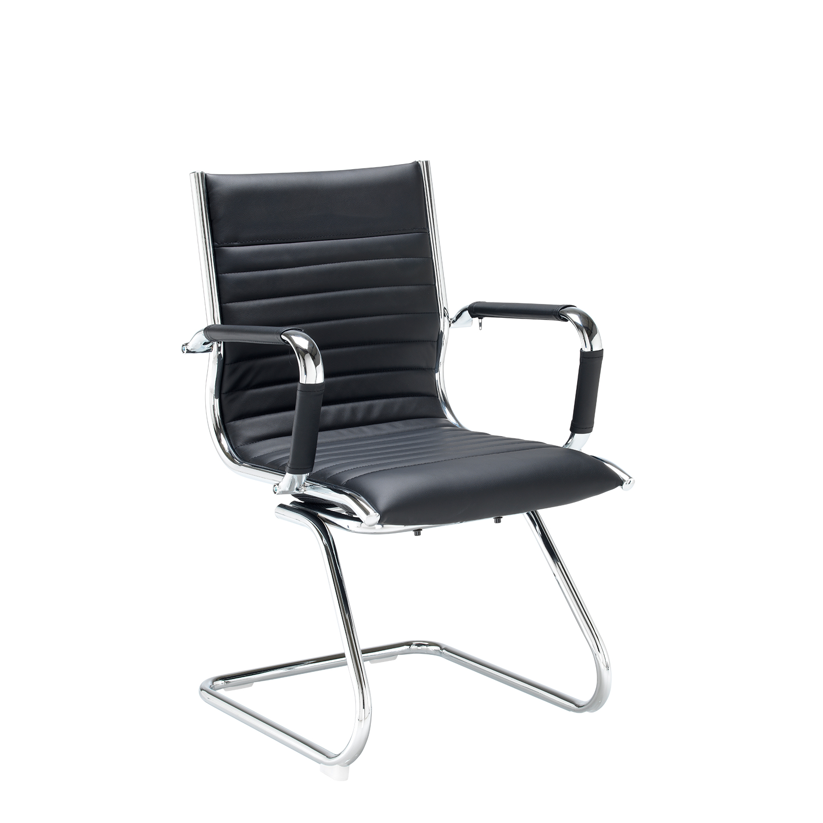 Boardroom / Meeting Bari executive visitors chair - black faux leather