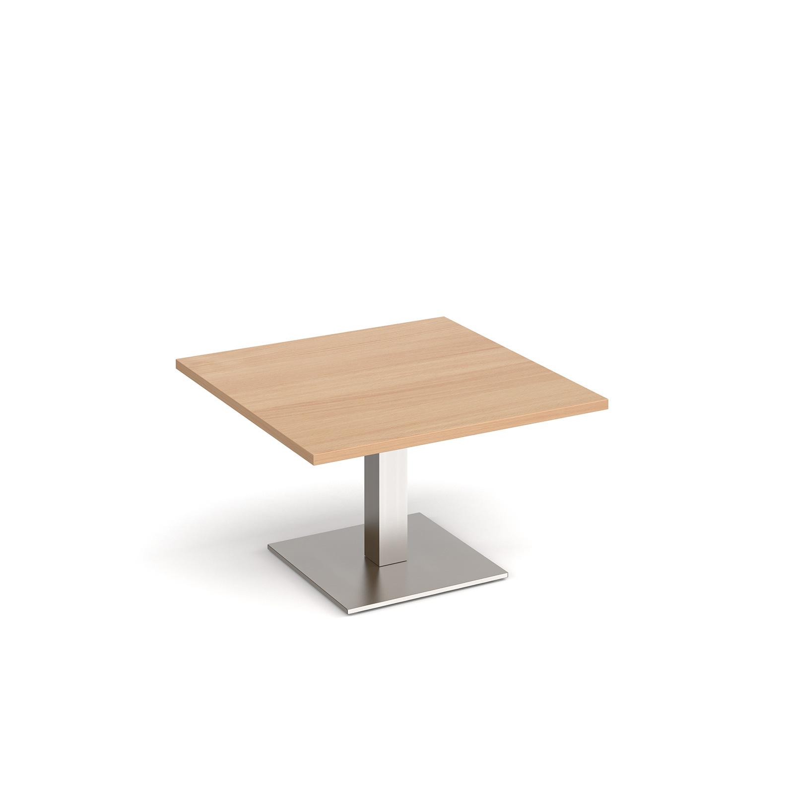 Coffee Brescia square coffee table with flat square base