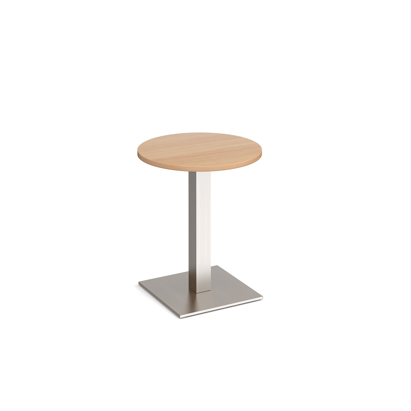 Brescia circular dining table with flat square base