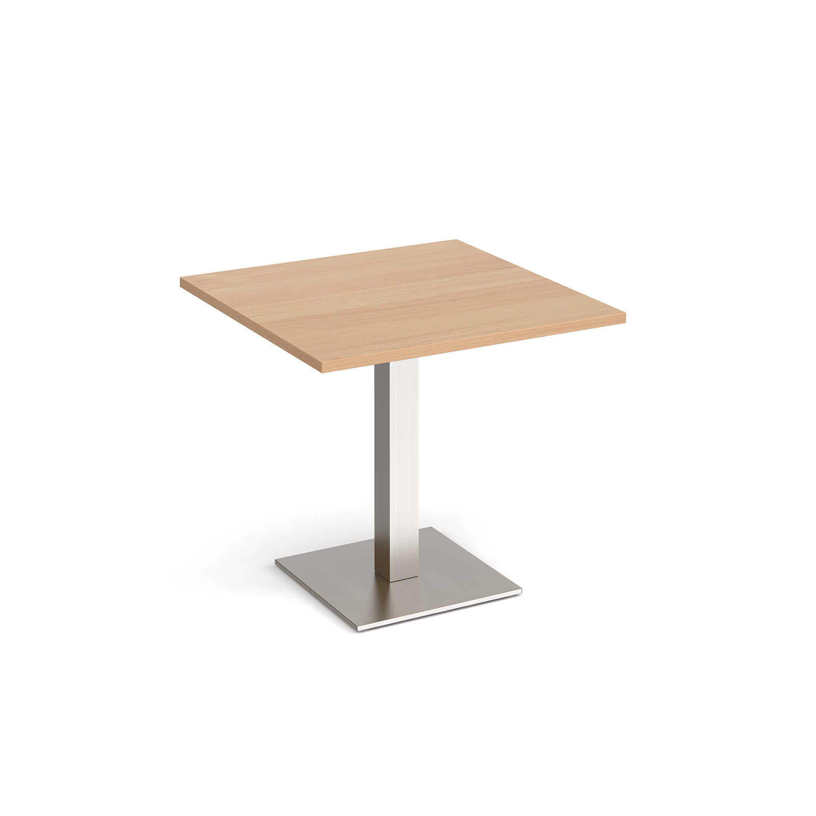 Brescia square dining table with flat square base