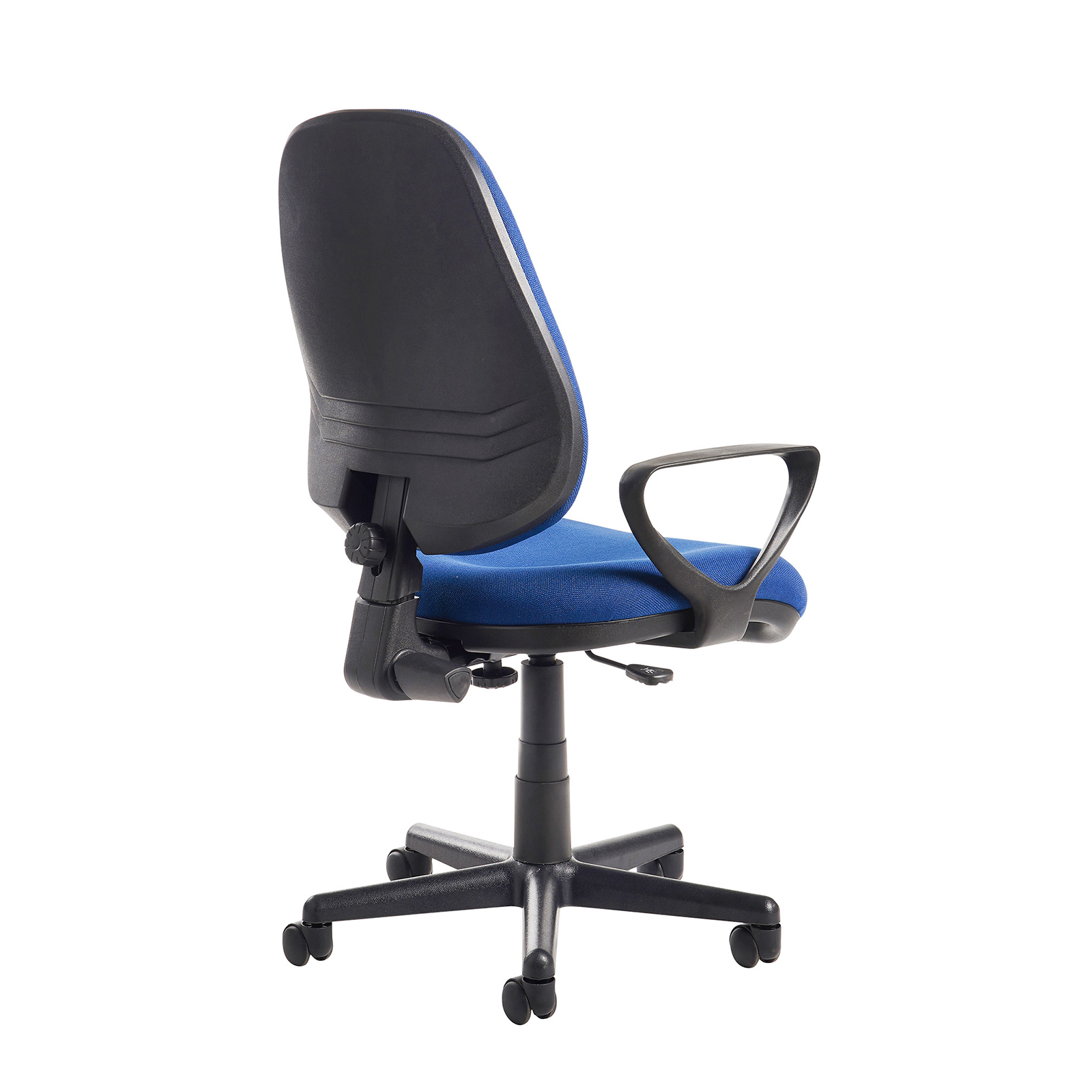 Chairs Bilbao fabric operators chair with fixed arms - blue