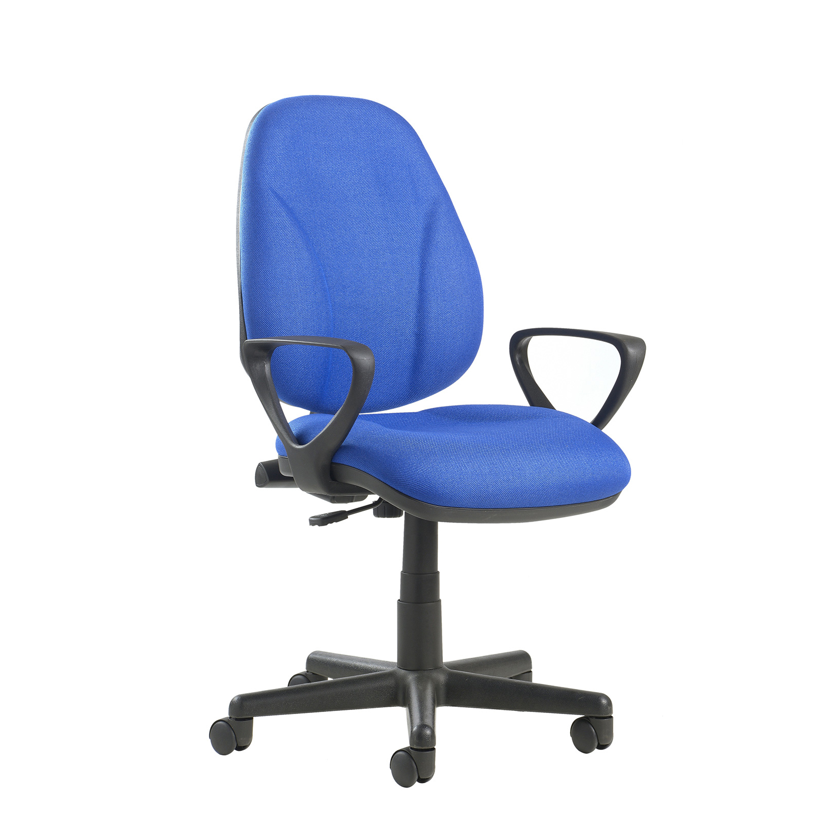 Desk Chairs Bilbao fabric operators chair with lumbar support