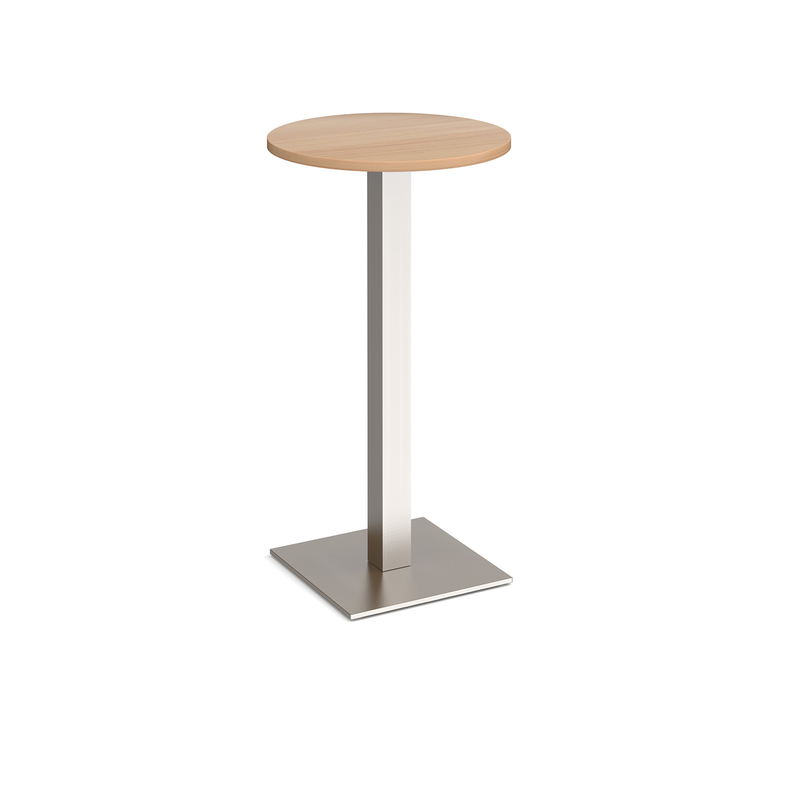 Brescia circular poseur table with flat square base