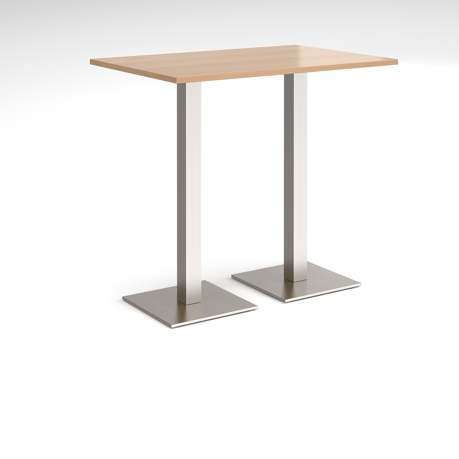 Brescia rectangular poseur table with square bases
