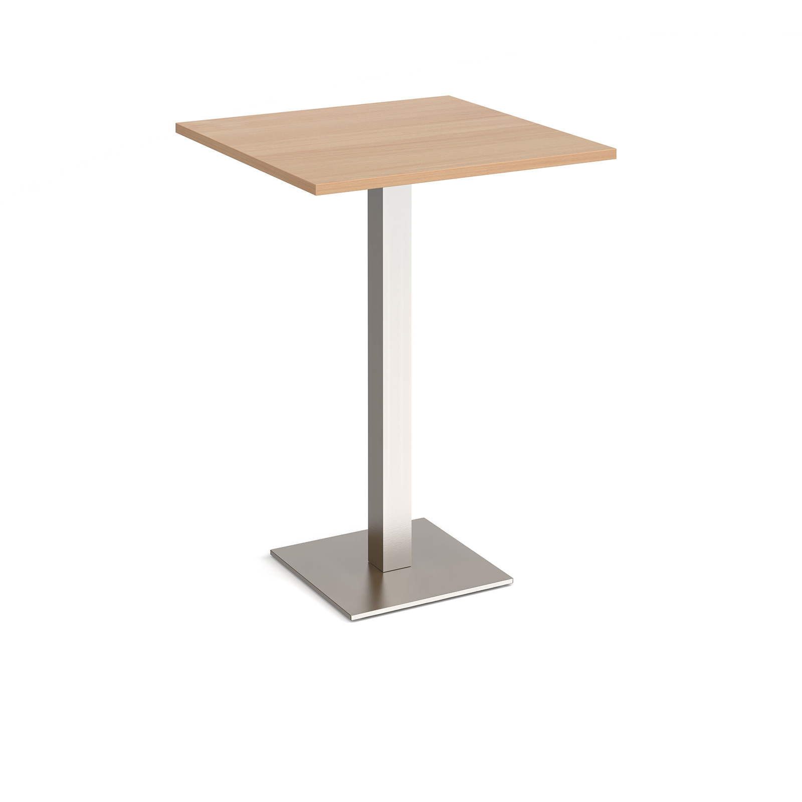 Canteen / Dining Brescia square poseur table with flat square base