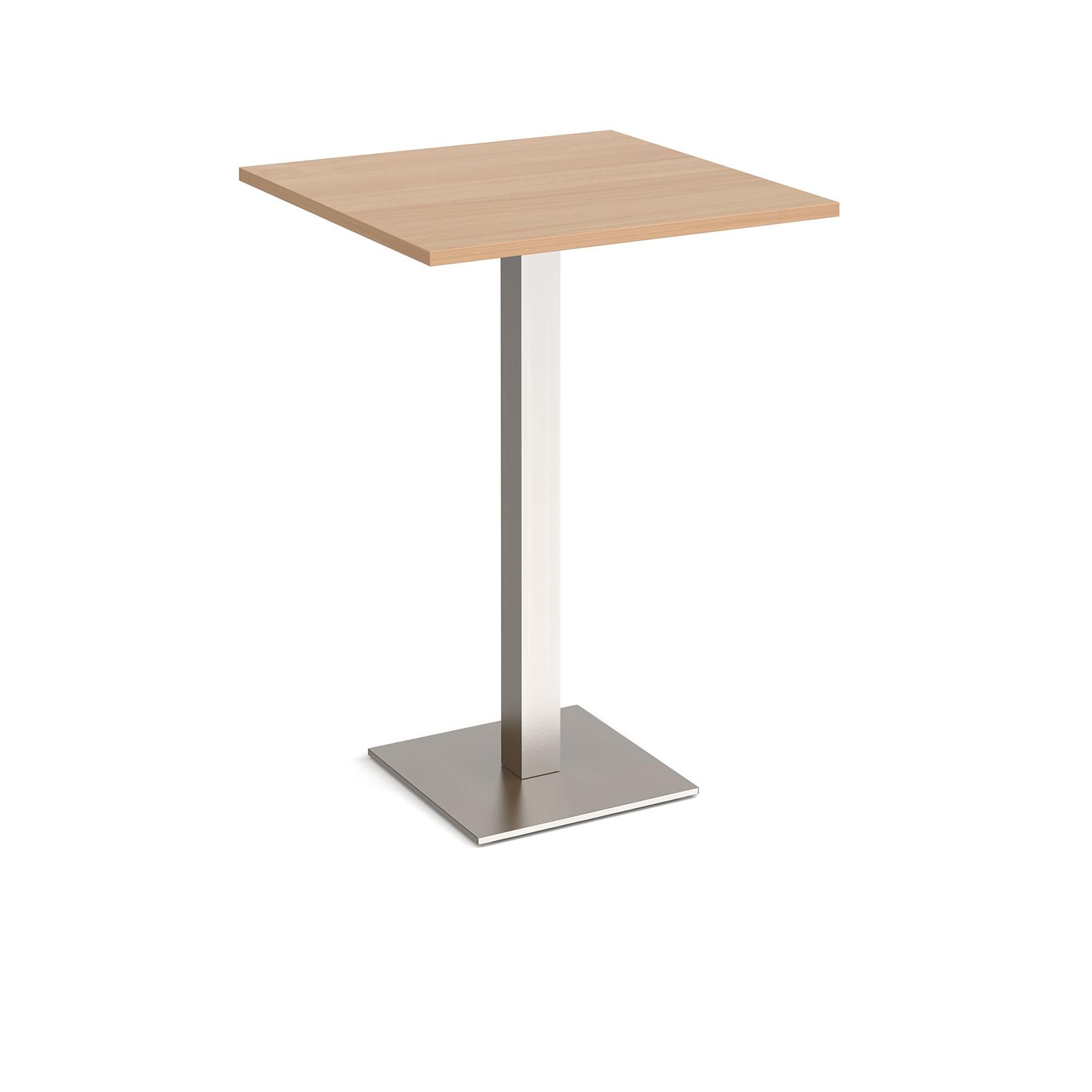 Brescia square poseur table with flat square base