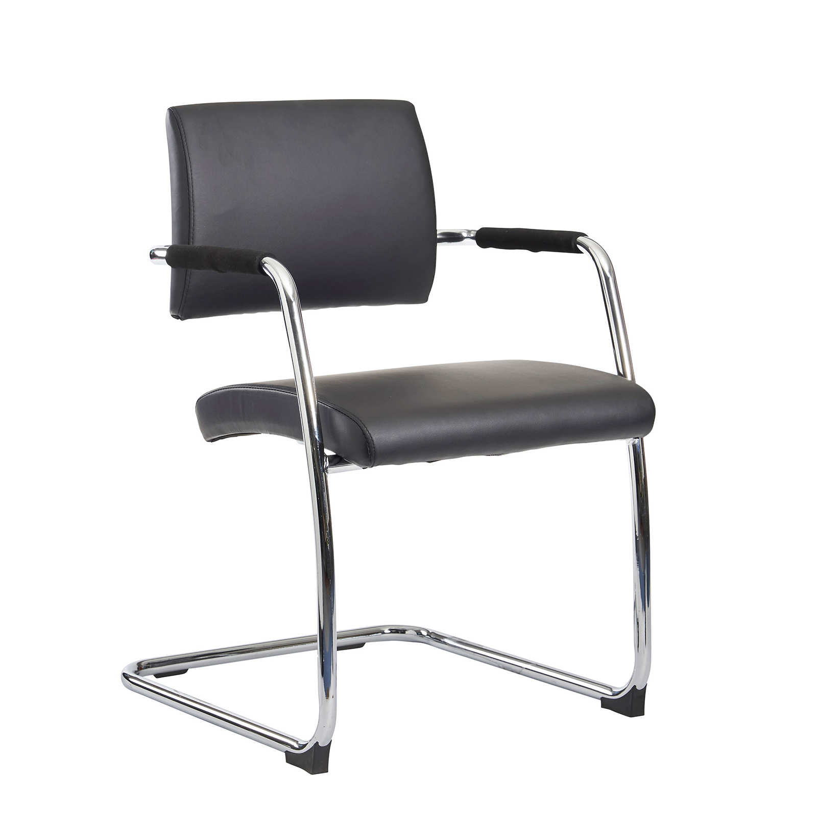 Boardroom / Meeting Bruges meeting room cantilever chair (pack of 2) - black faux leather