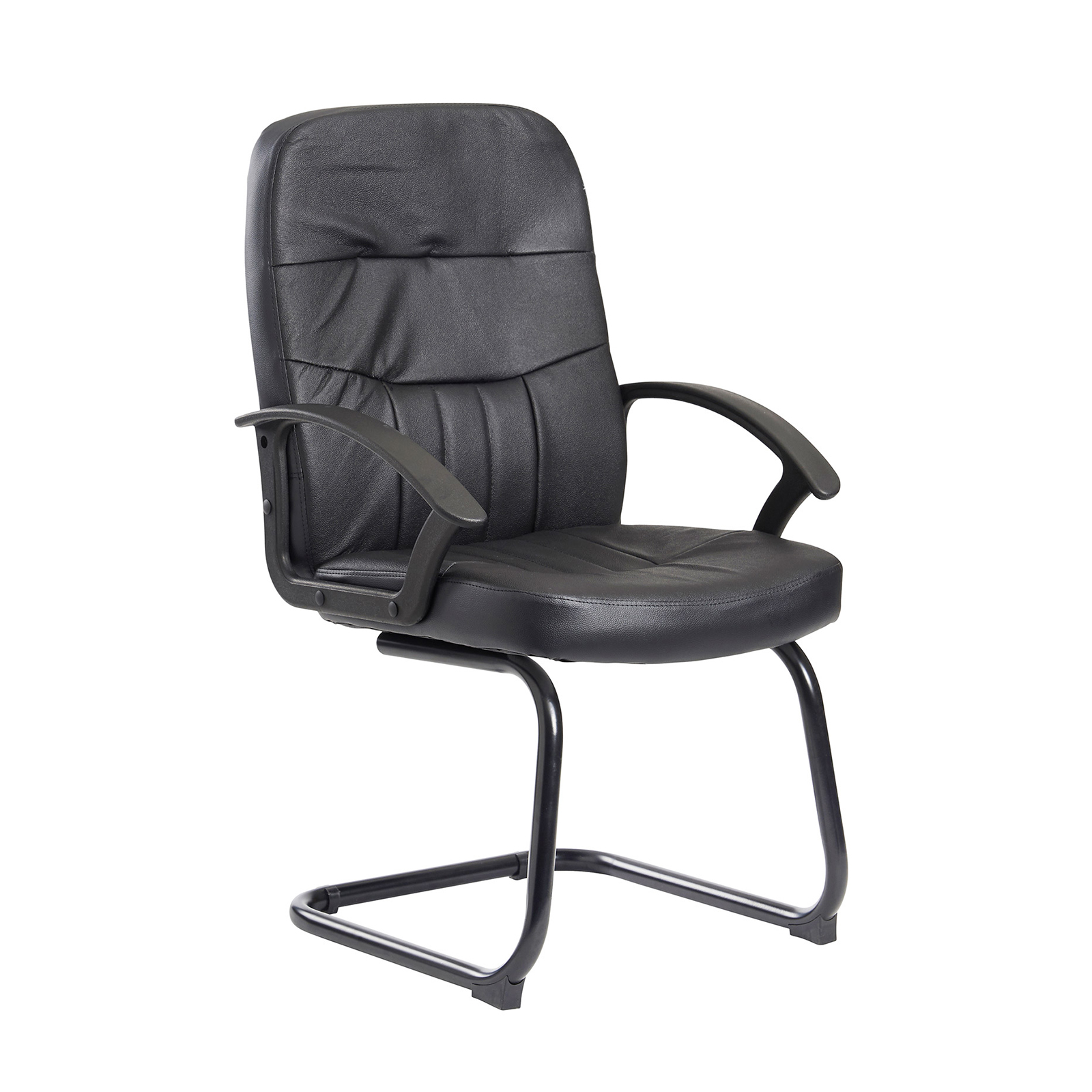 Boardroom / Meeting Cavalier executive visitors chair - black leather faced