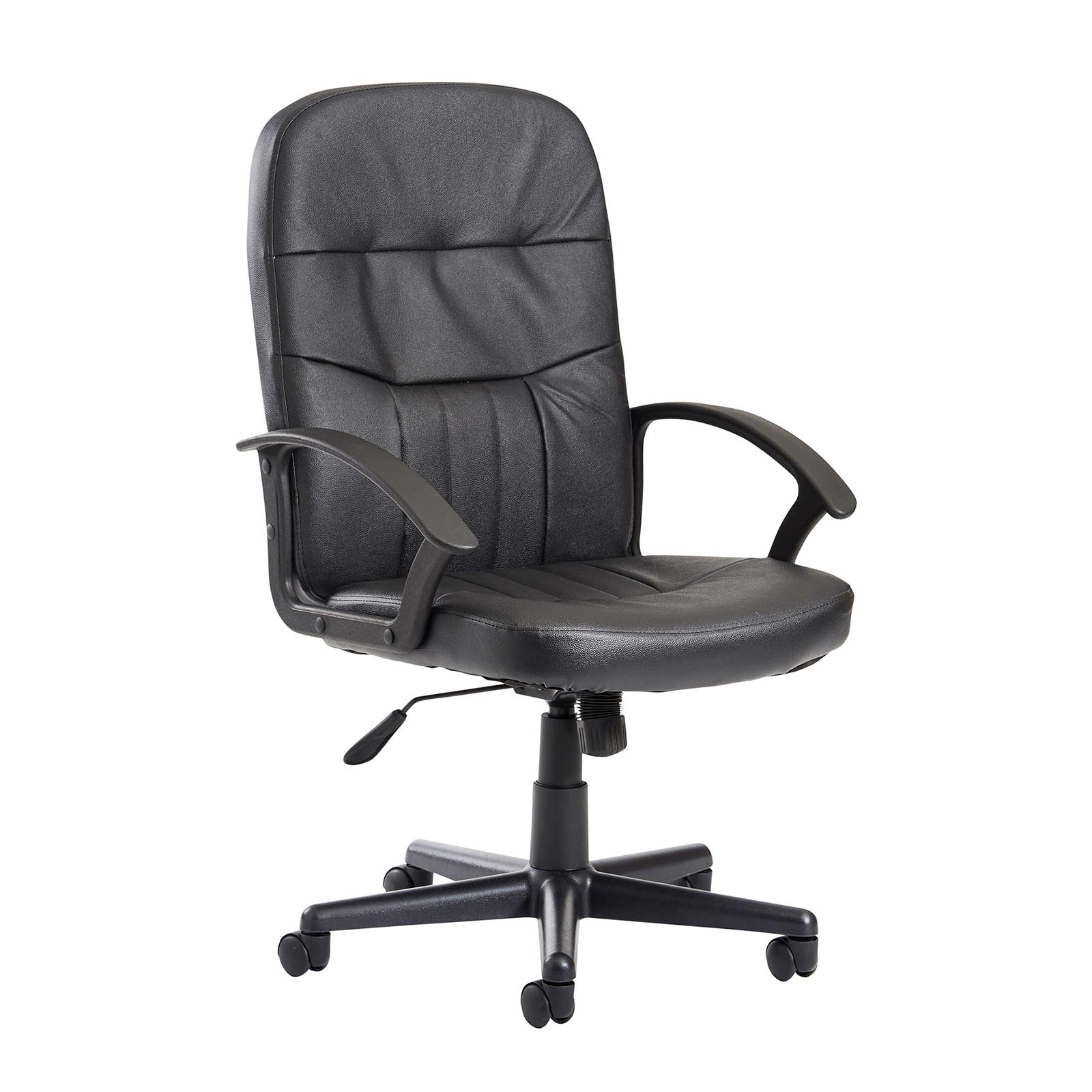Desk Chairs Cavalier high back managers chair - black leather faced