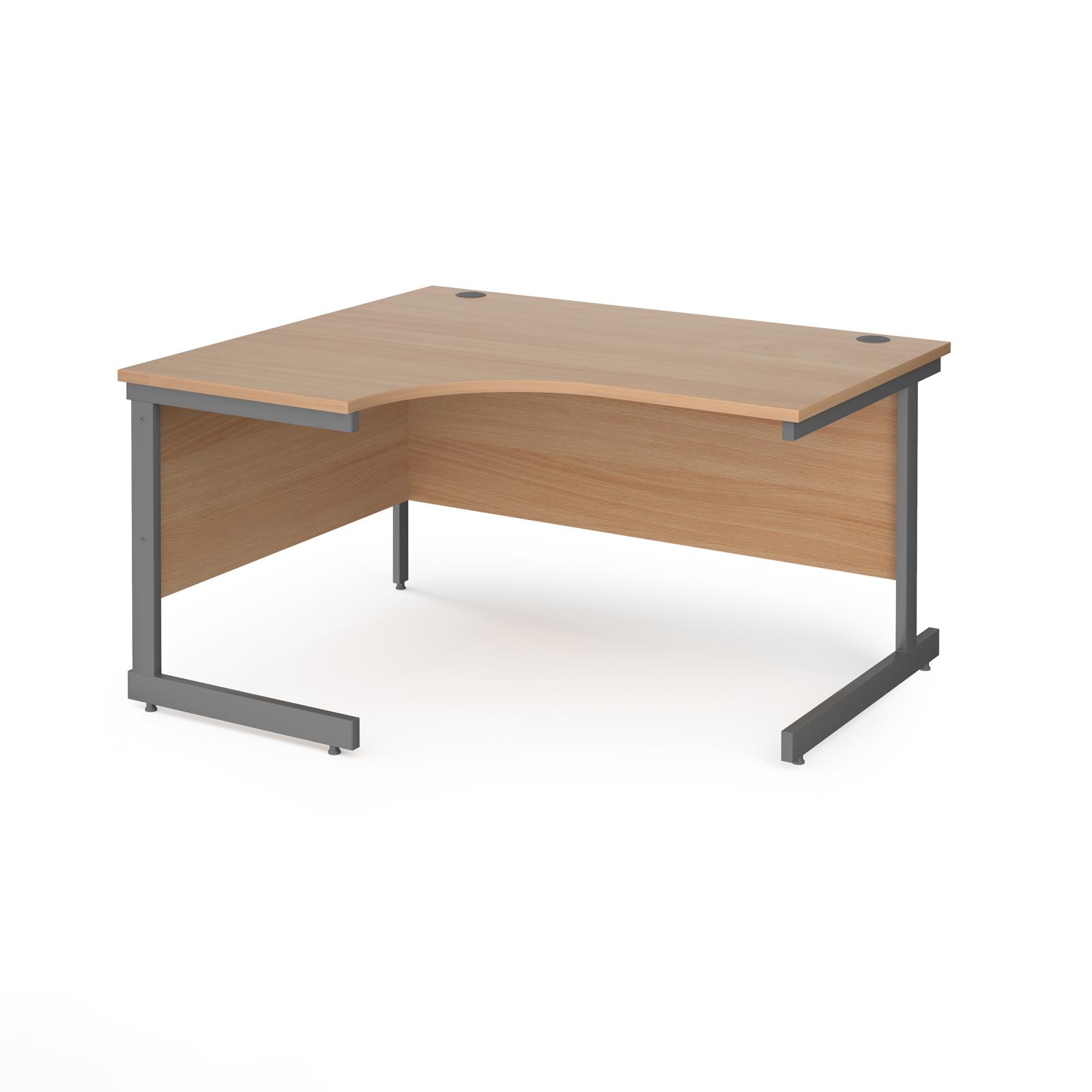 Curved Desks Contract 25 cantilever leg LH ergonomic desk