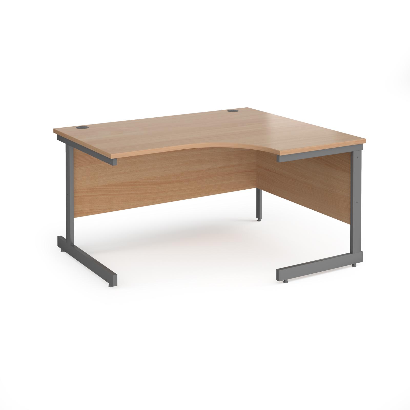Curved Desks Contract 25 cantilever leg RH ergonomic desk
