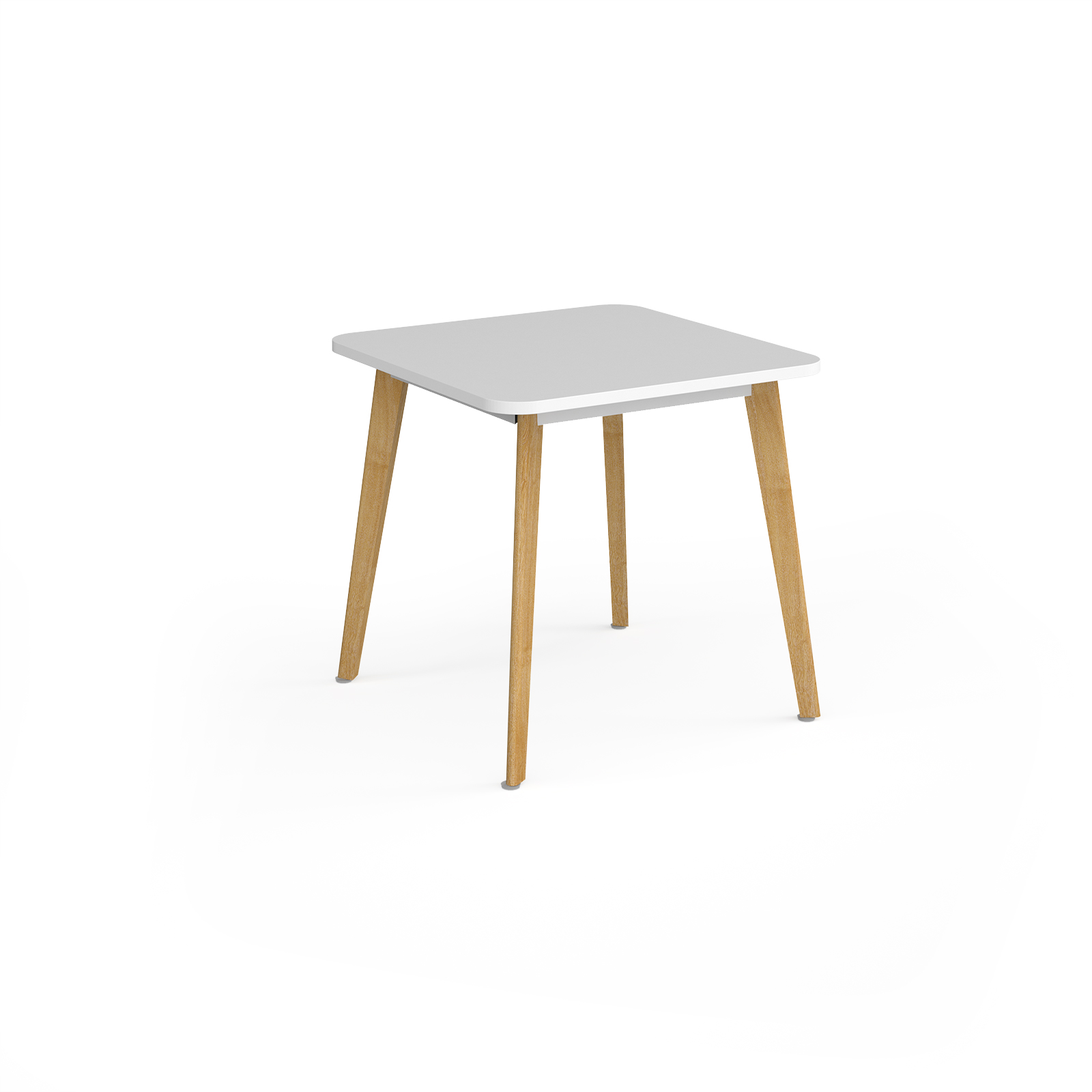 Canteen / Dining Como square dining table with 4 oak legs 800mm - white