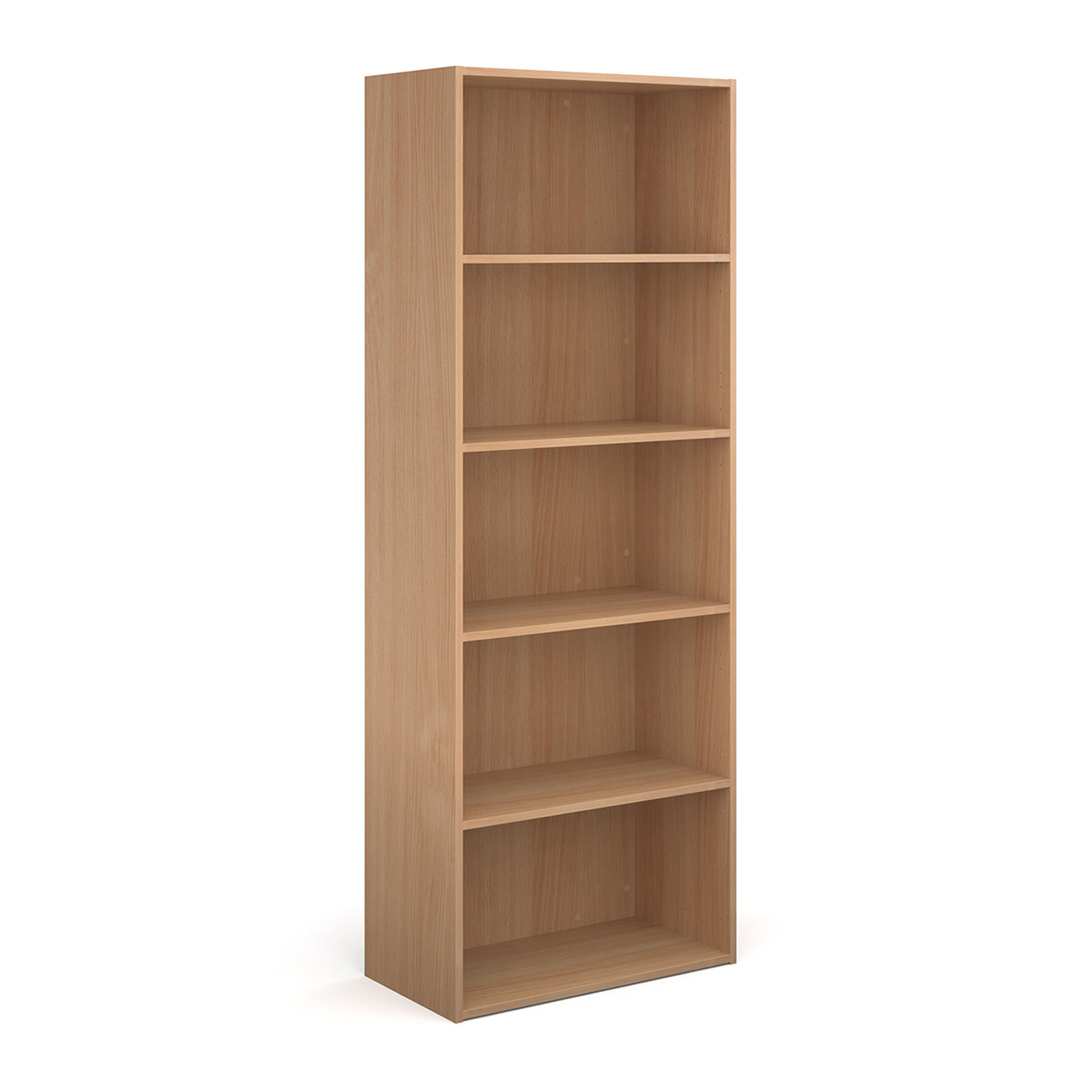 Contract bookcase with shelves