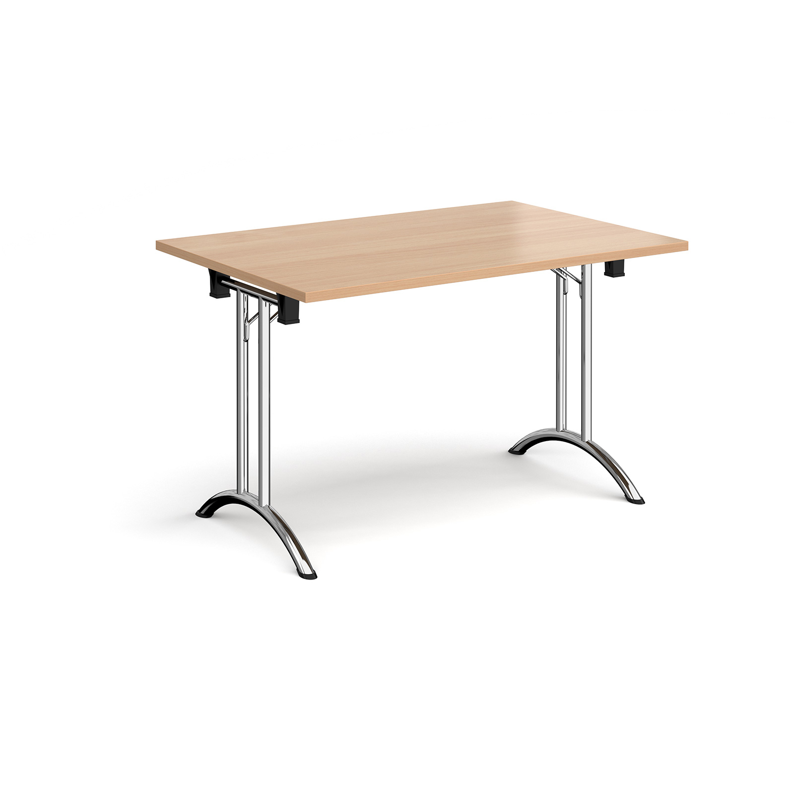 Boardroom / Meeting Rectangular folding leg table with curved feet