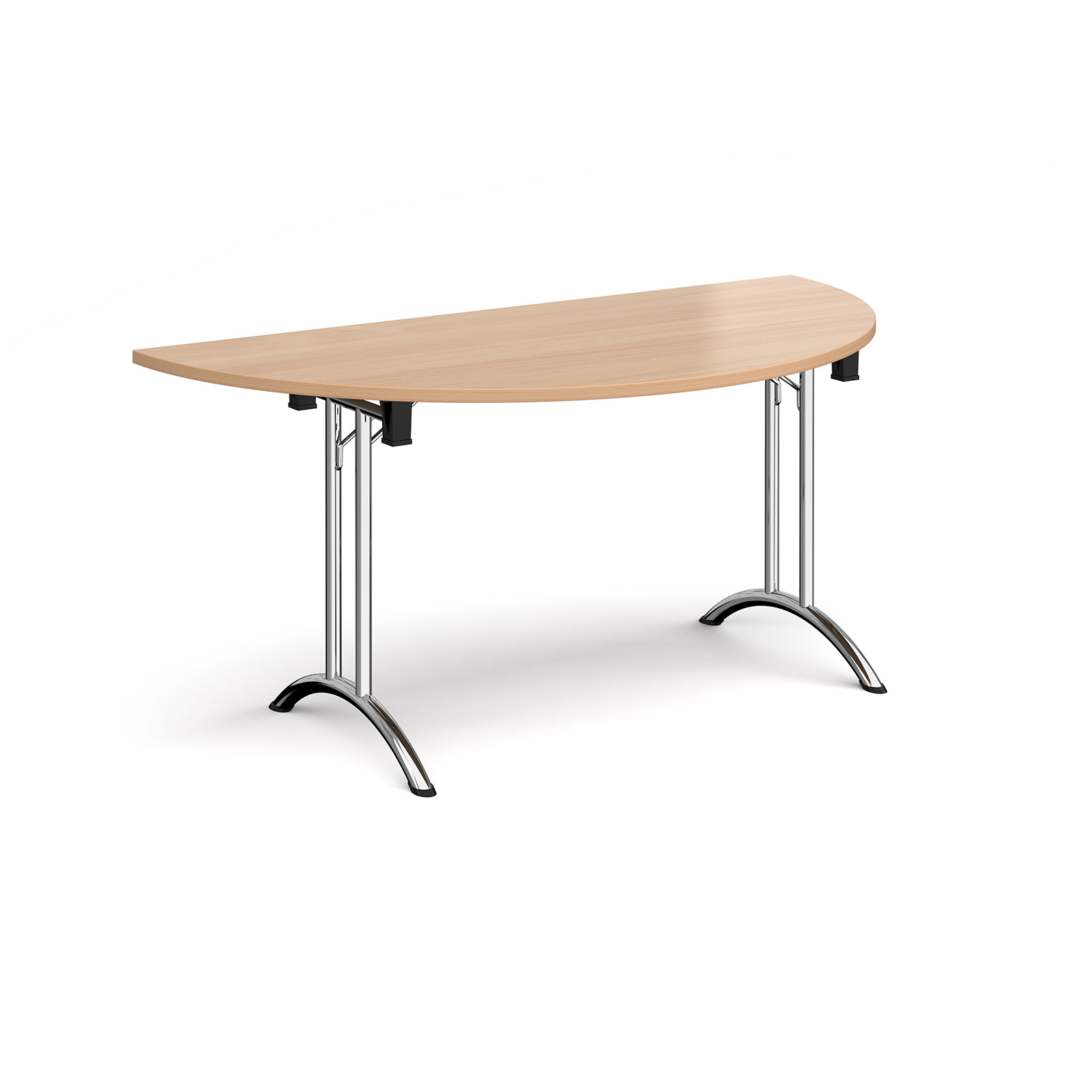 Boardroom / Meeting Semi circular folding leg table with curved feet