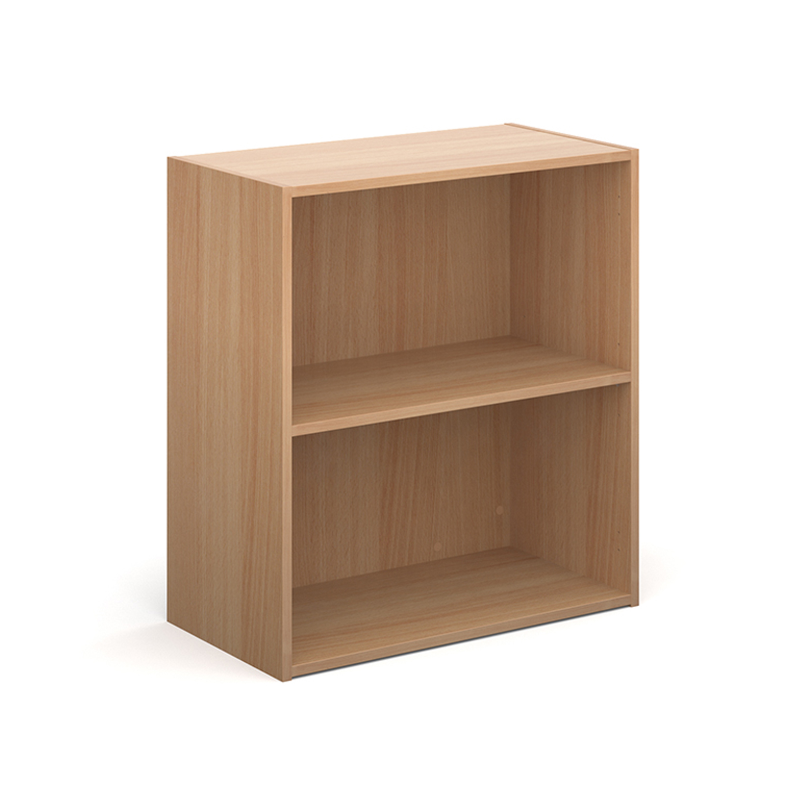 Contract bookcase 830mm high with 1 shelf - beech