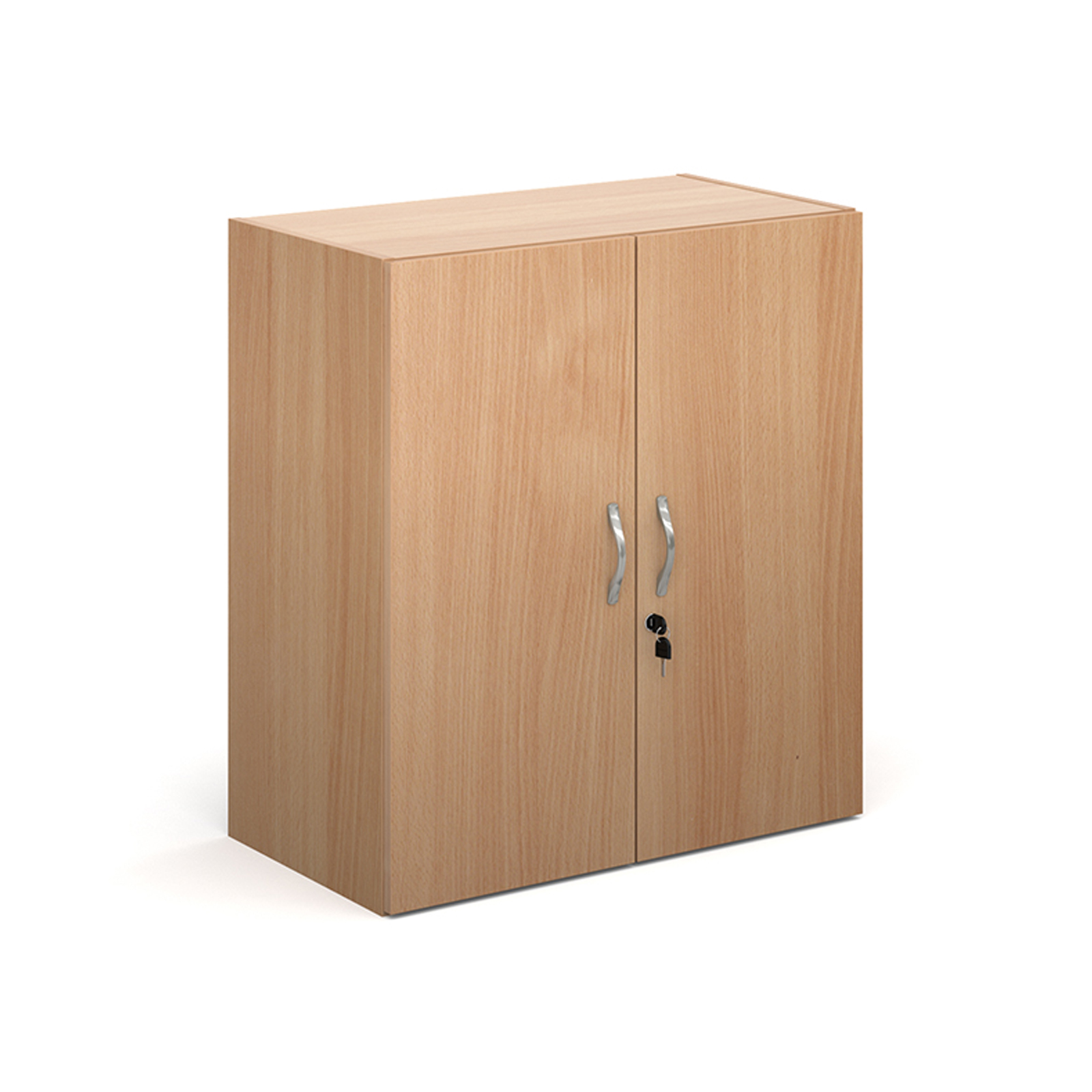 Contract double door cupboard 830mm high with 1 shelf - beech