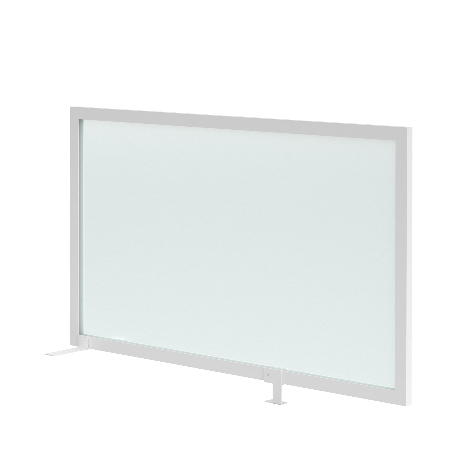 Straight Tops Clear polyvinyl desk mounted high return screen 1200mm with bracket