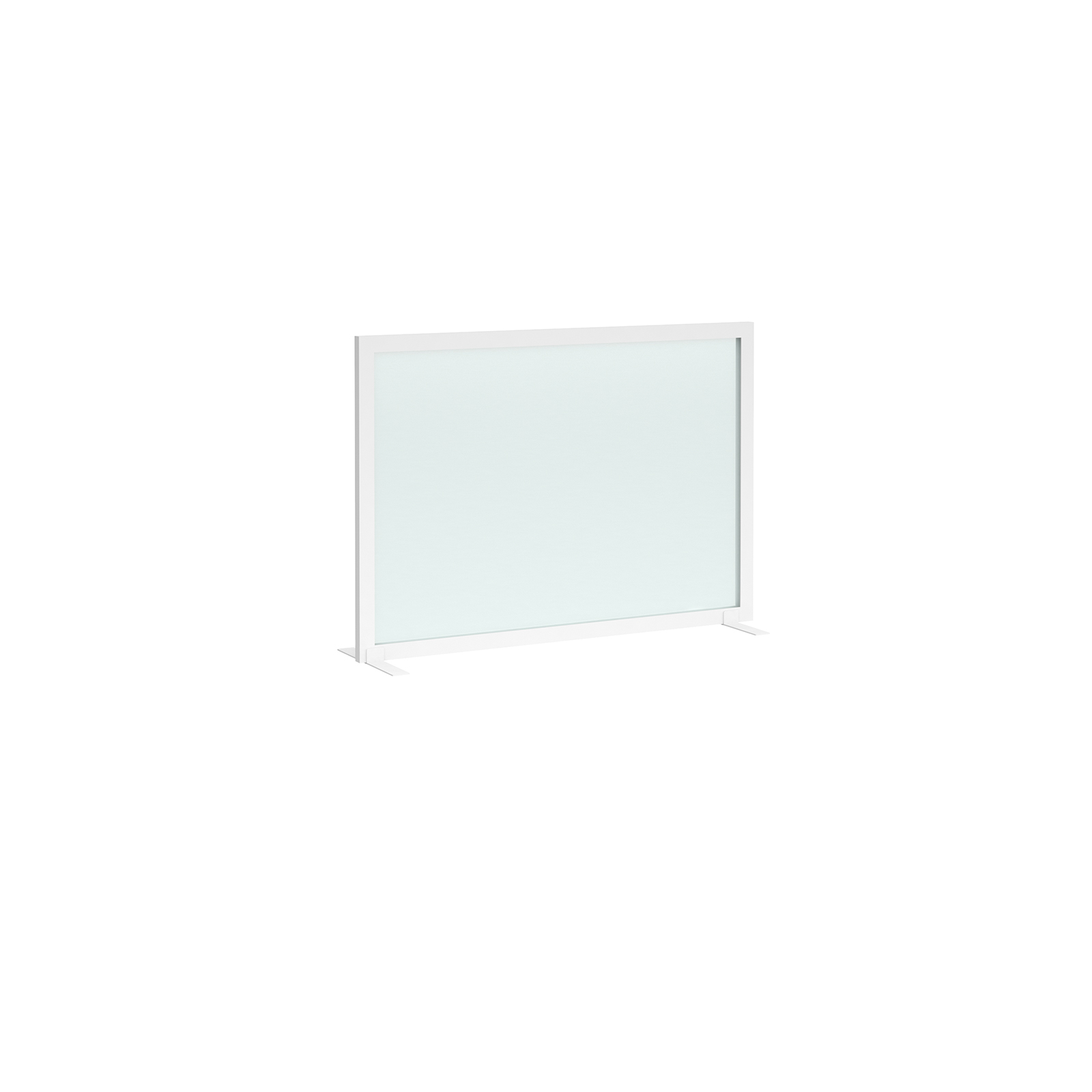 Straight Tops Clear polyvinyl desk screen