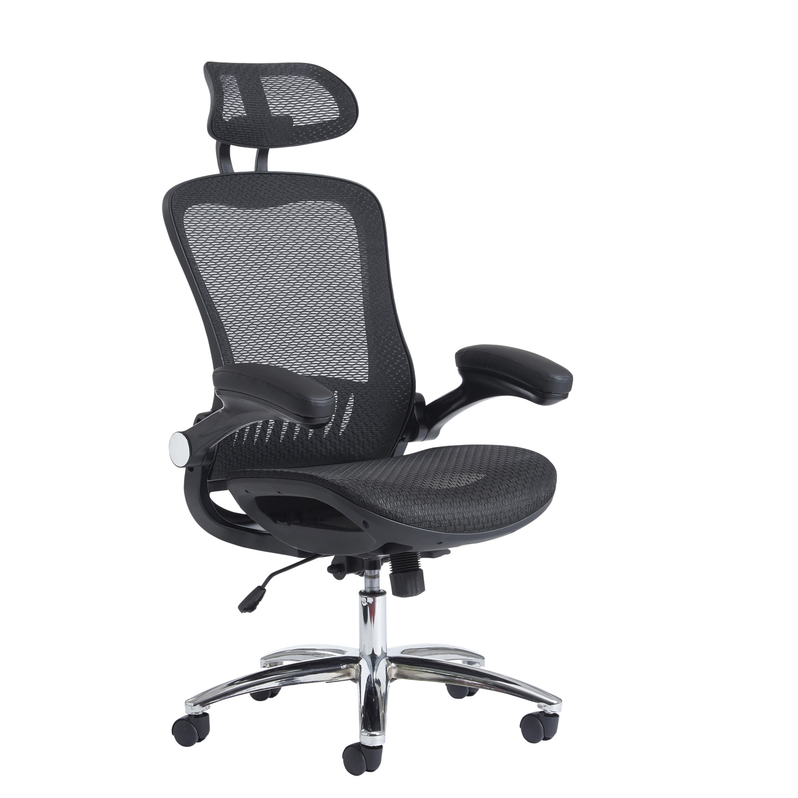 Desk Chairs Curva high back mesh chair - black