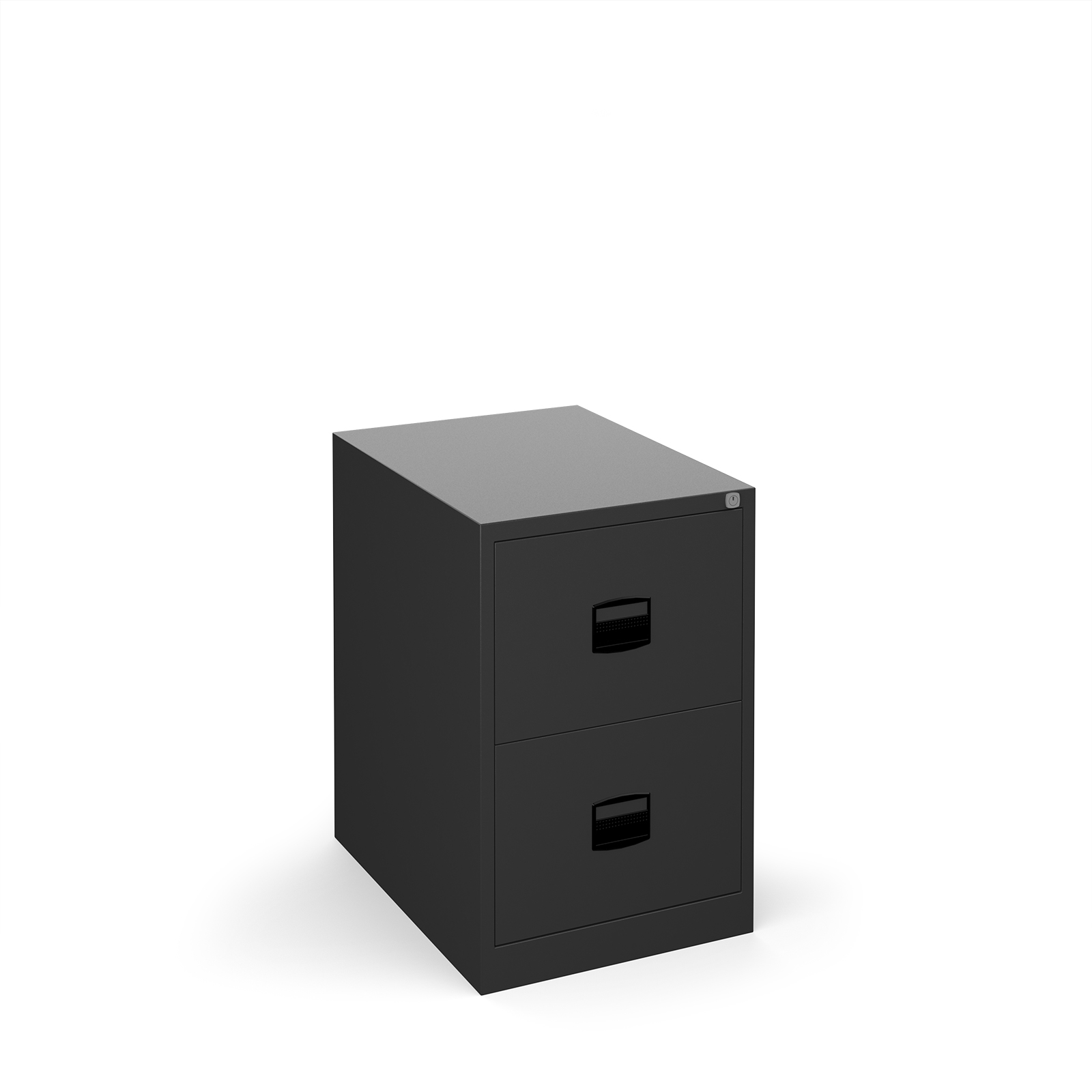 Steel Steel 2 drawer contract filing cabinet 711mm high - black