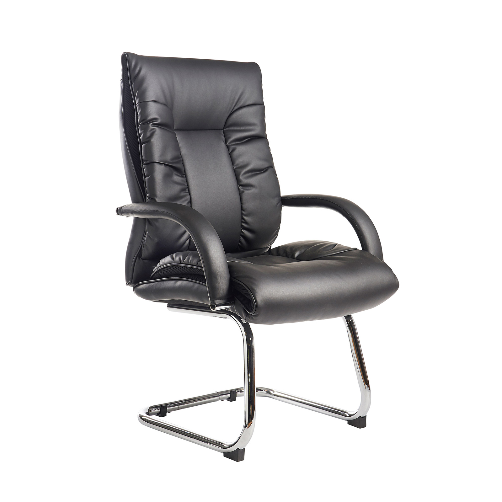 Boardroom / Meeting Derby high back visitors chair - black faux leather