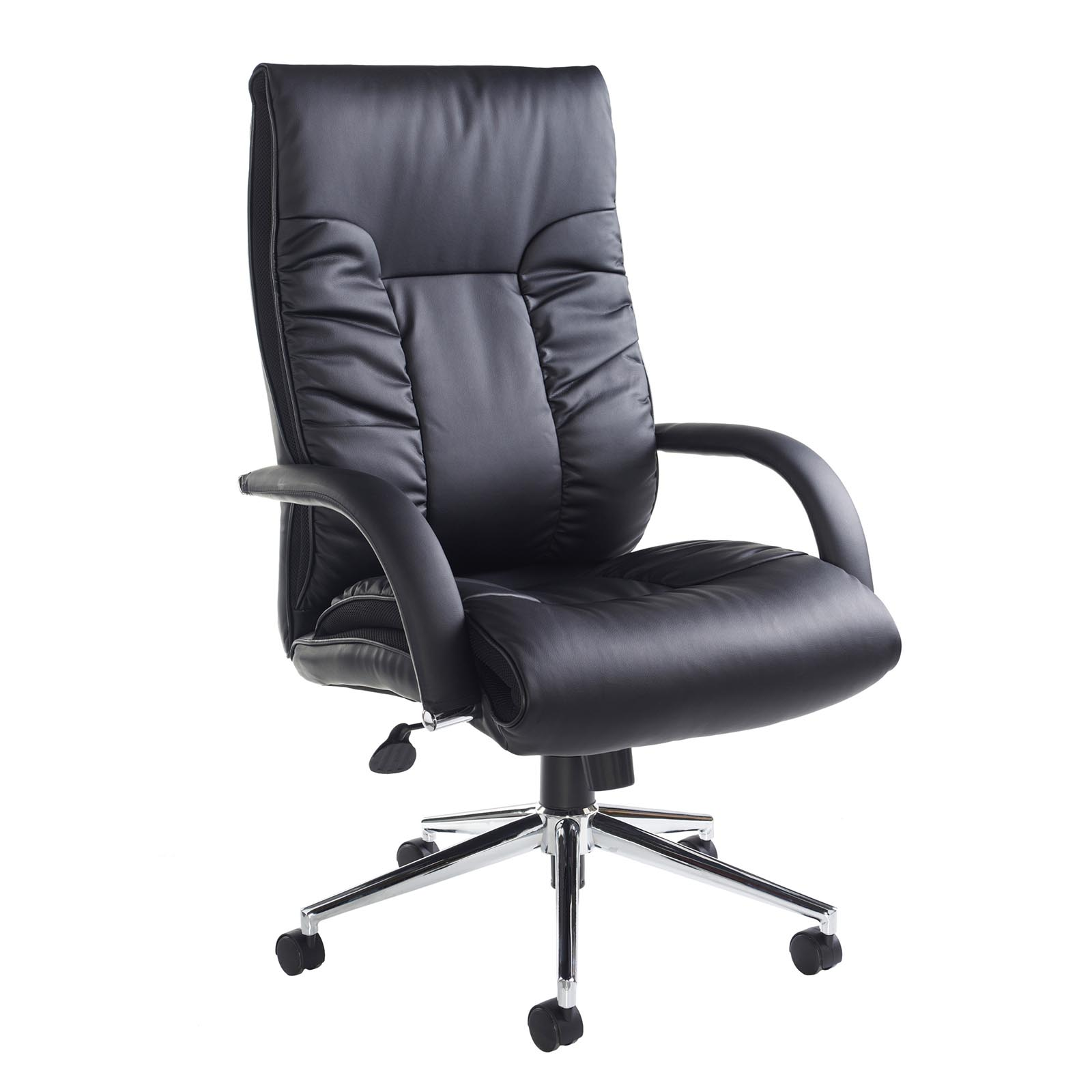 Executive Chairs Derby high back executive chair - black faux leather